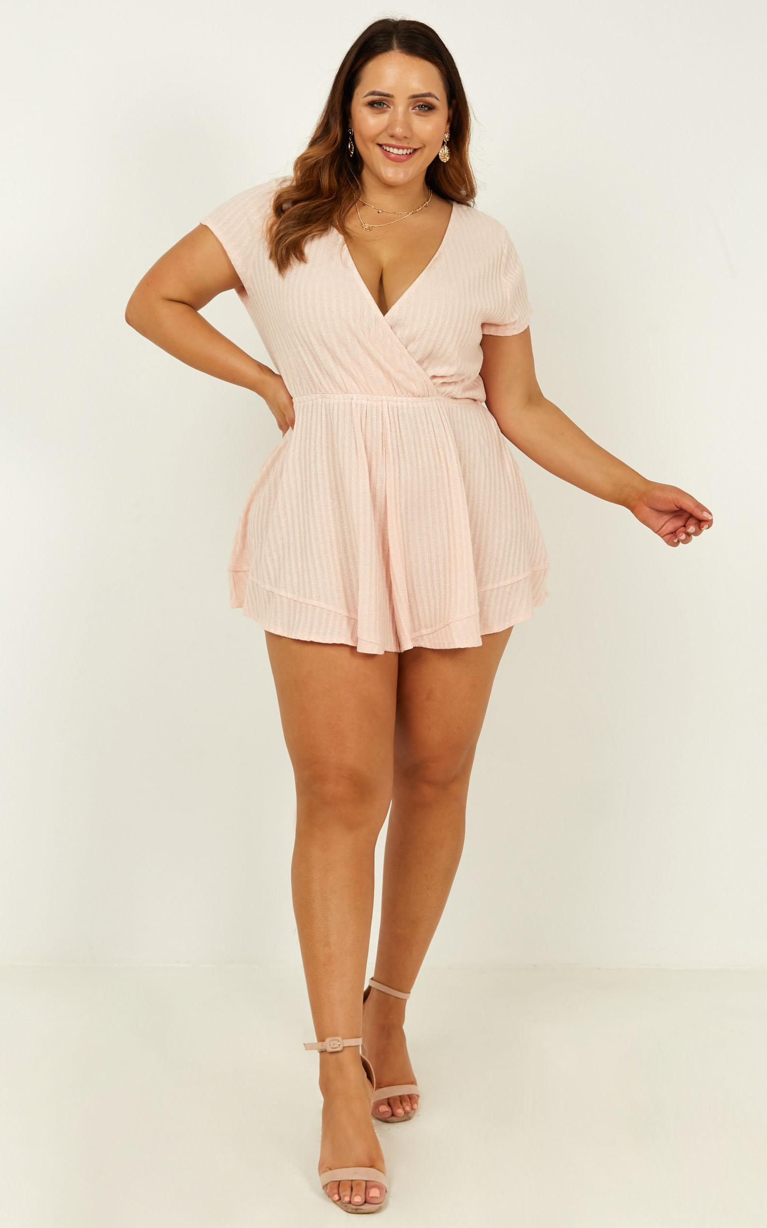 Stay or go Playsuit in blush - 20 (XXXXL), Blush, hi-res image number null