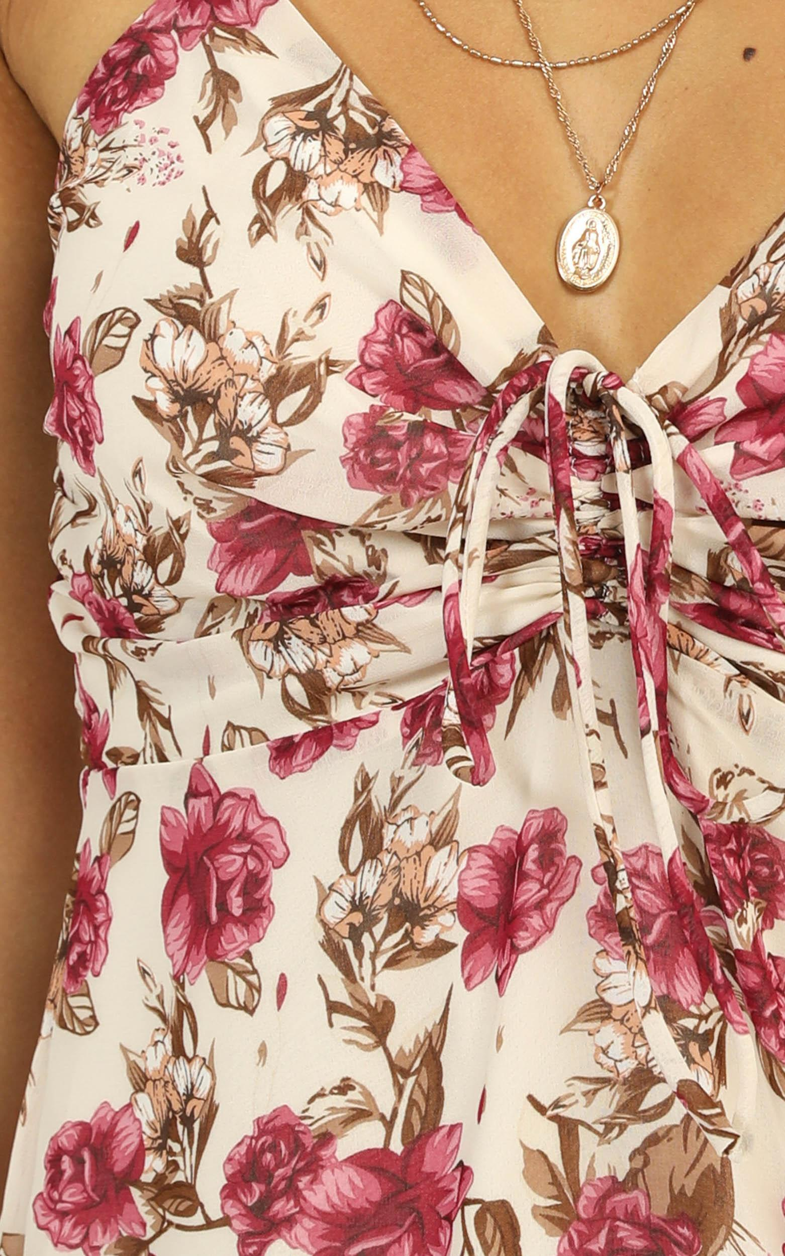 Sway With Me Dress in white floral - 12 (L), White, hi-res image number null