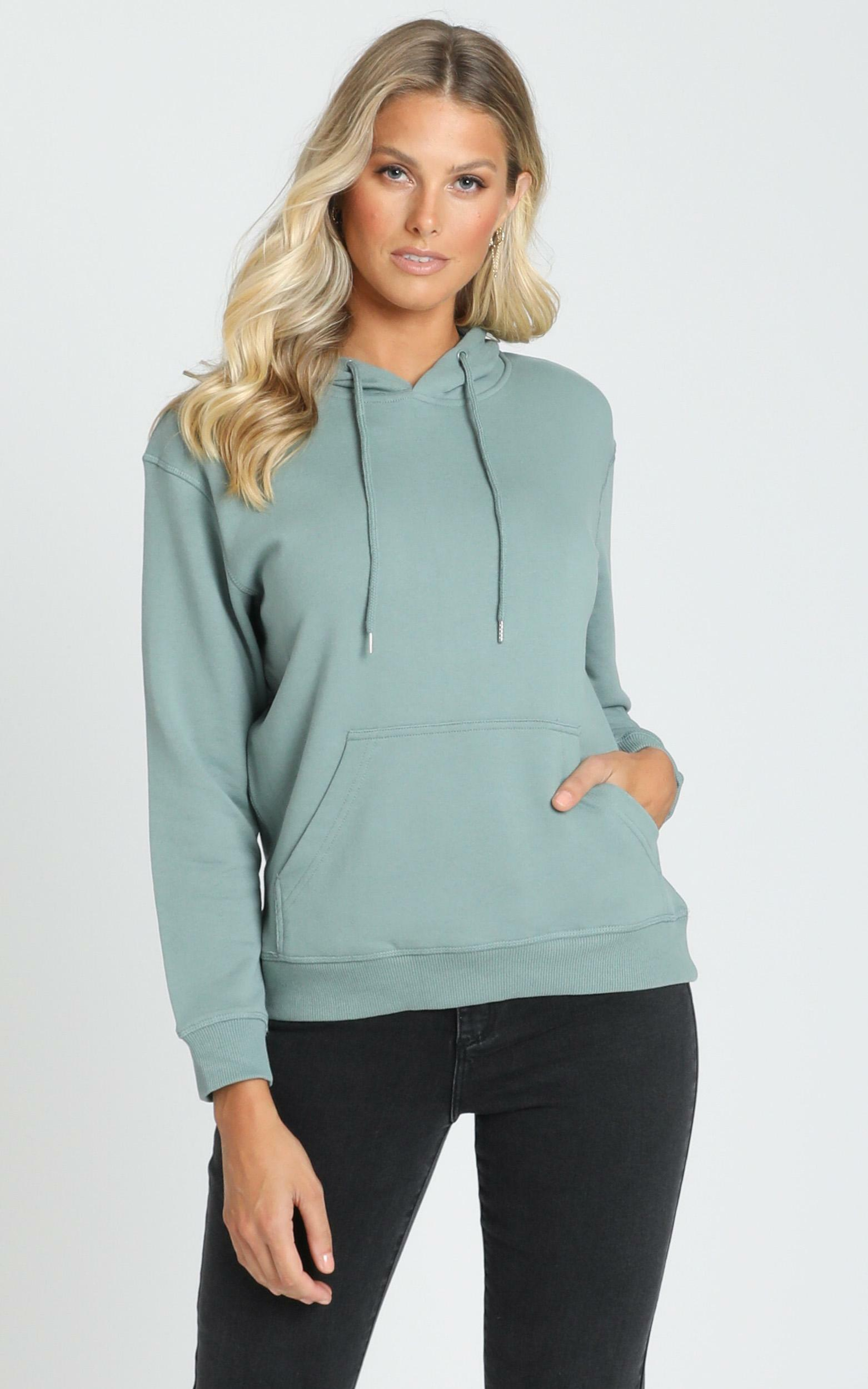 AS Colour - Premium Hood in Sage - XS, Sage, hi-res image number null
