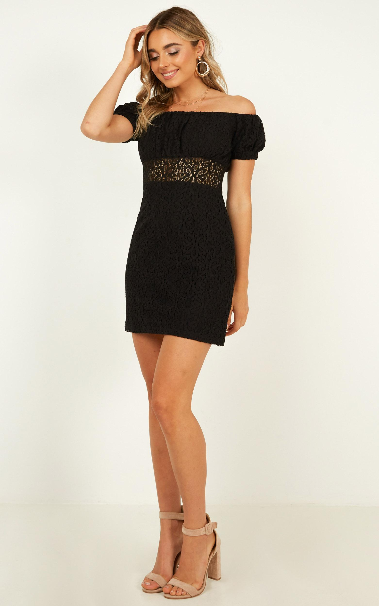 All My Girls Dress In black lace - 12 (L), Black, hi-res image number null