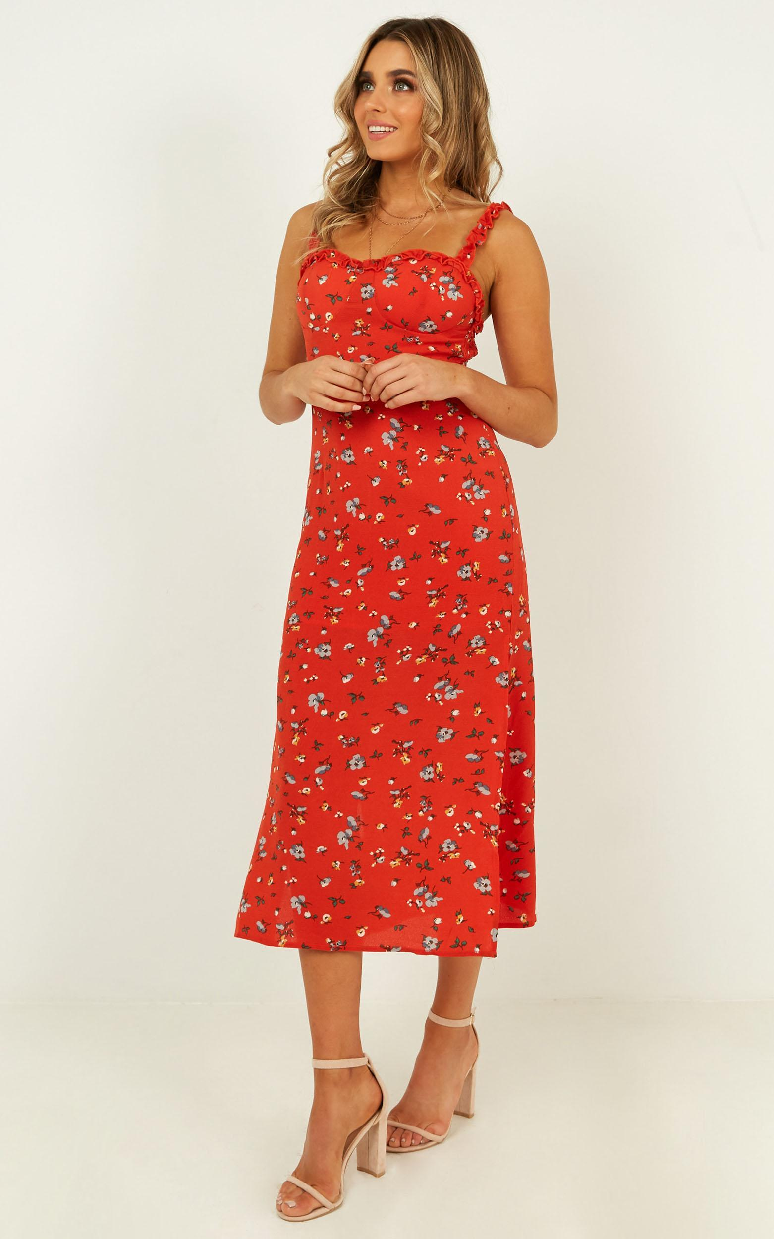 My Side Dress In red floral - 20 (XXXXL), Red, hi-res image number null