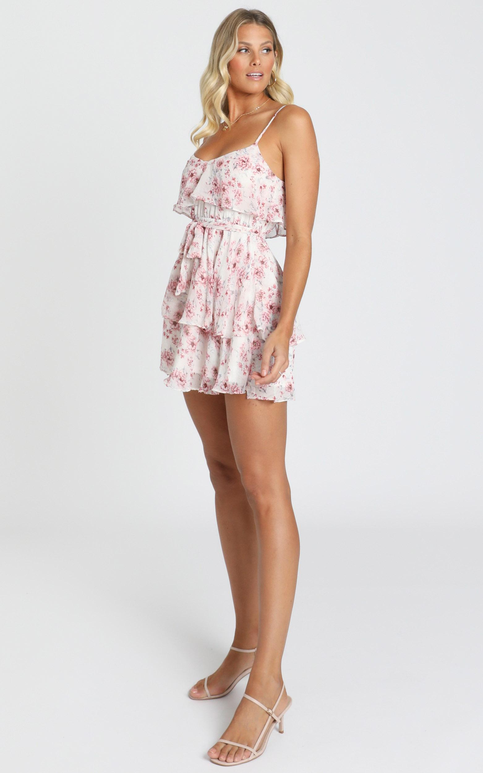Sweet Meaning Dress in white floral - 14 (XL), White, hi-res image number null