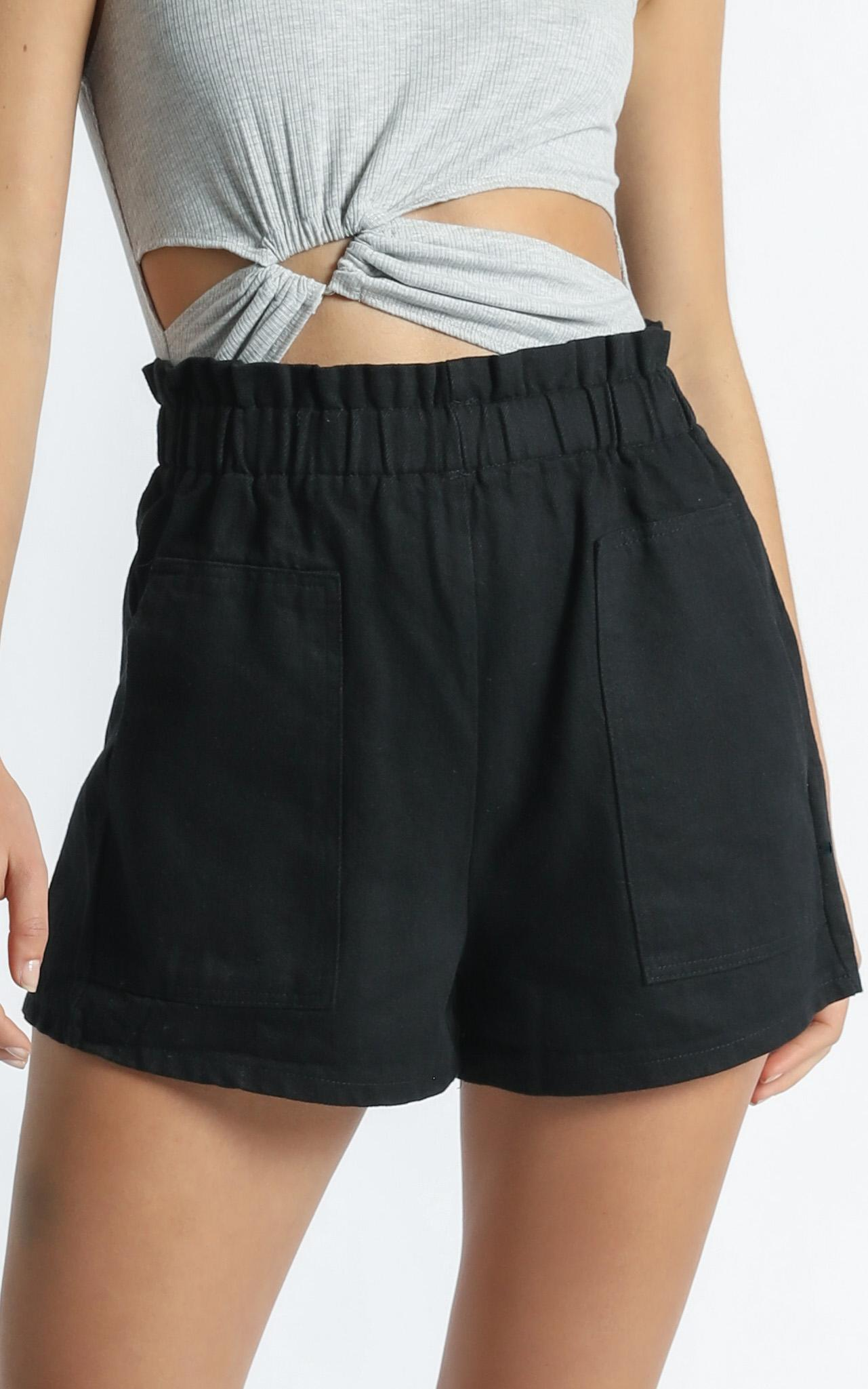Tell A Friend Shorts in Black - 6 (XS), Black, hi-res image number null