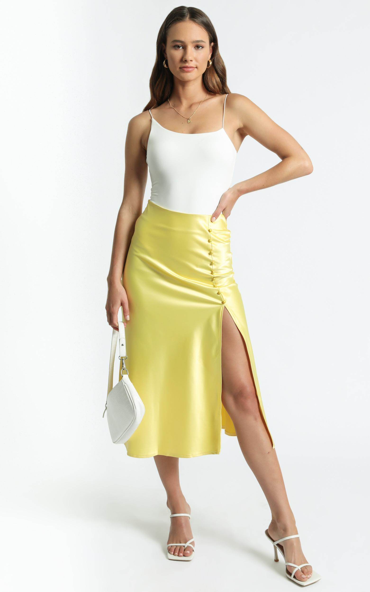 Maritza Skirt in Lemon - 8 (S), Yellow, hi-res image number null