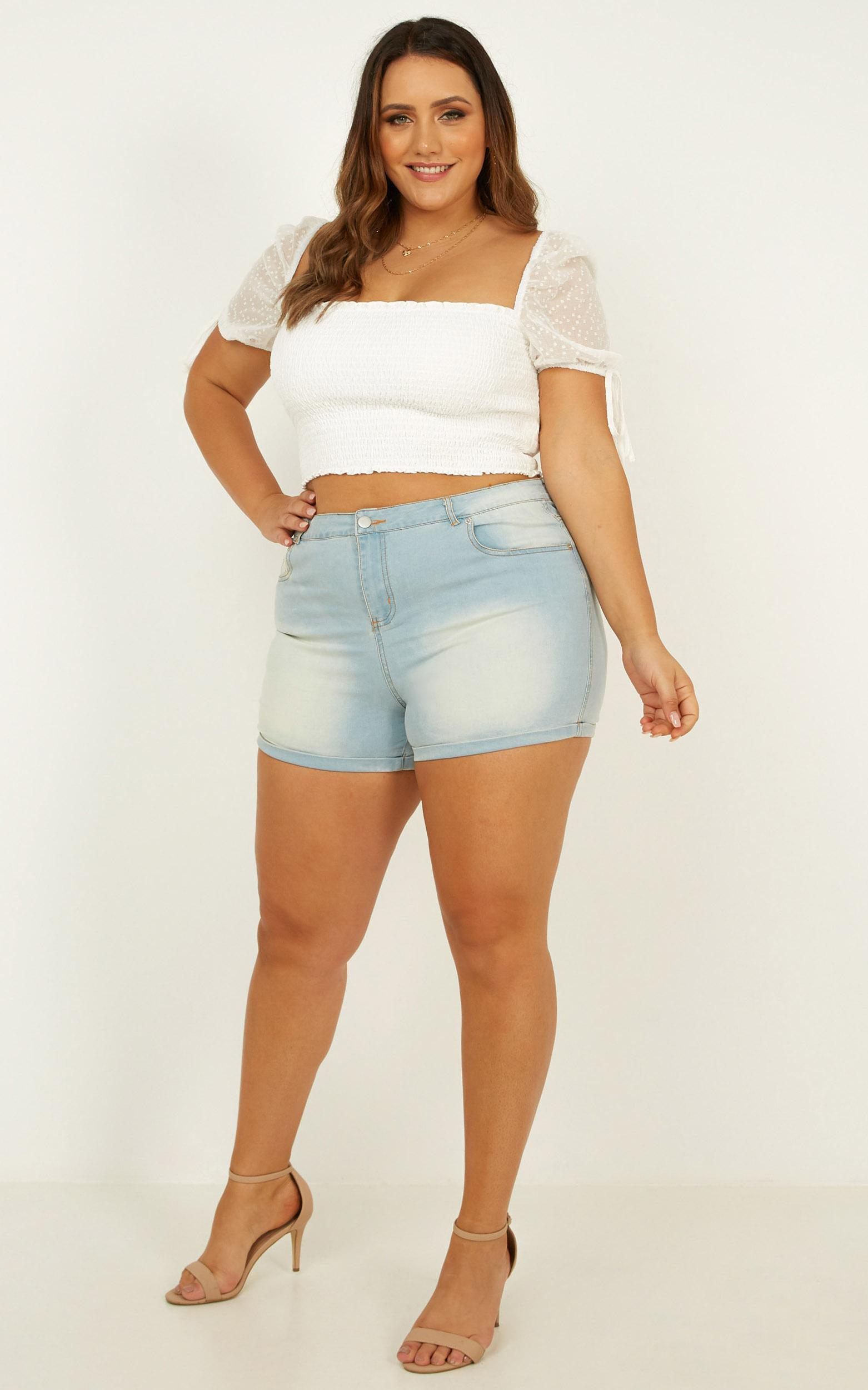 Next Vacay Top in white - 14 (XL), White, hi-res image number null