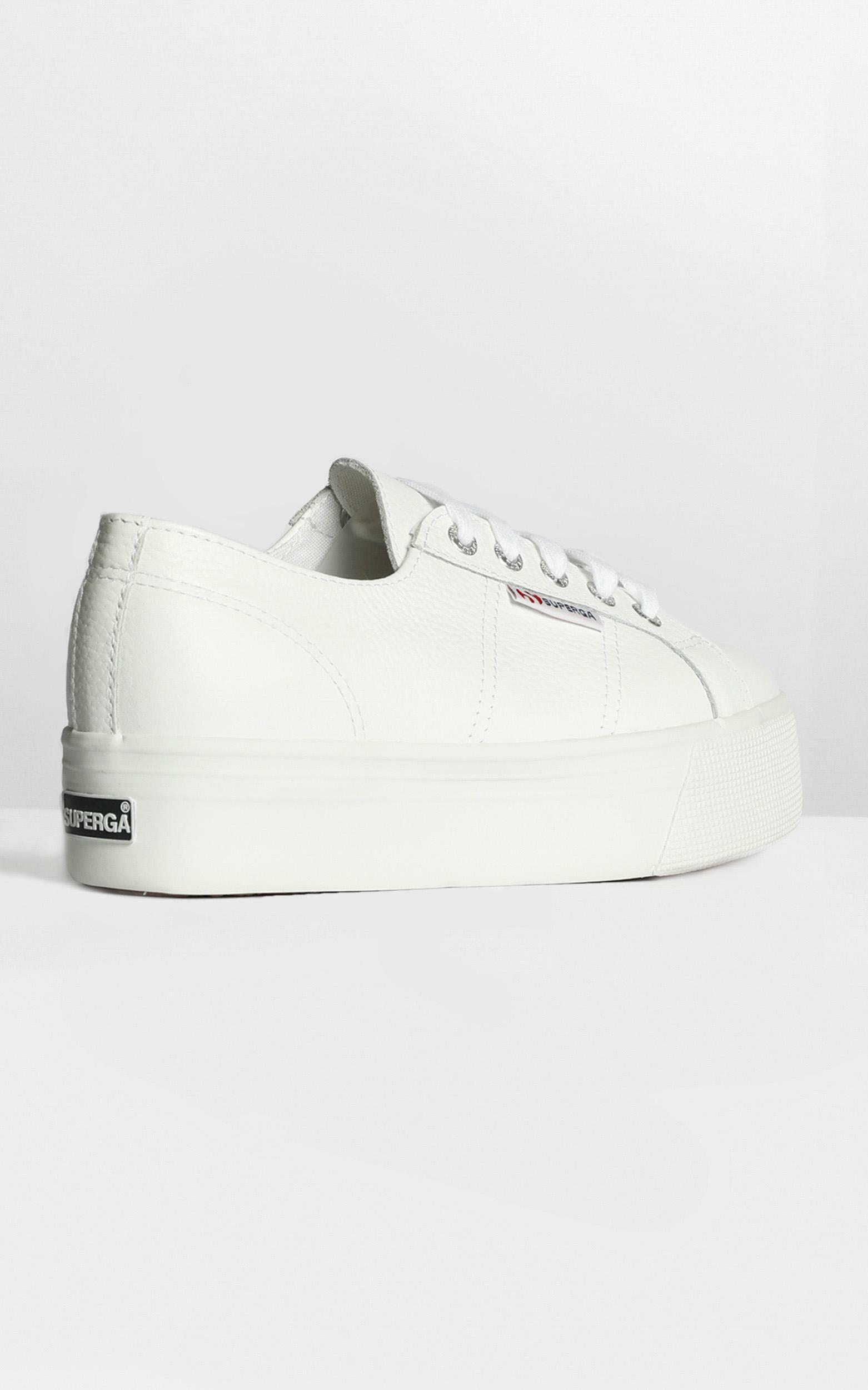 Superga - 2790 FGLW Platform Sneakers in white leather - 9, WHT2, hi-res image number null