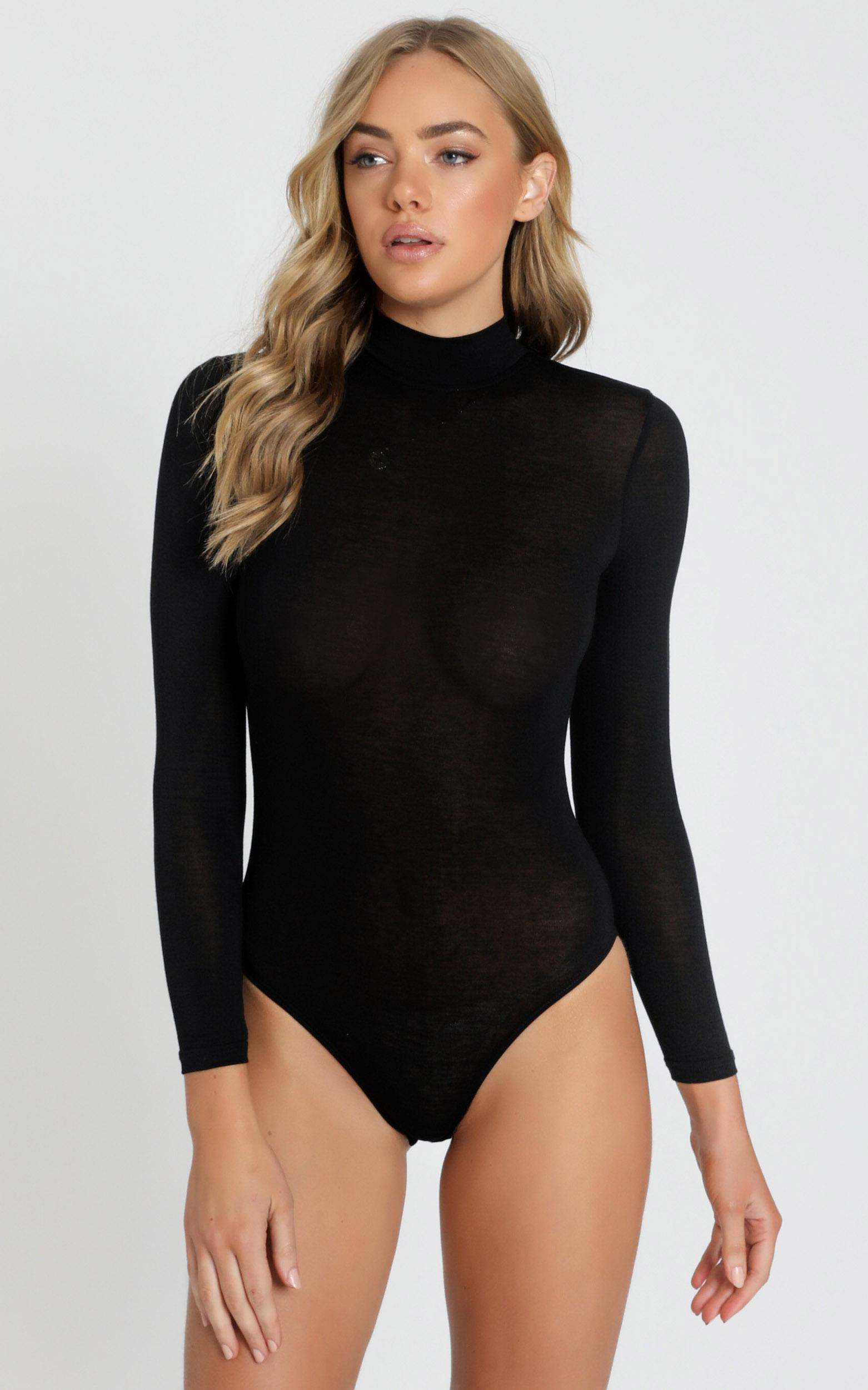 Just Be Yourself Bodysuit In black - 16 (XXL), Black, hi-res image number null