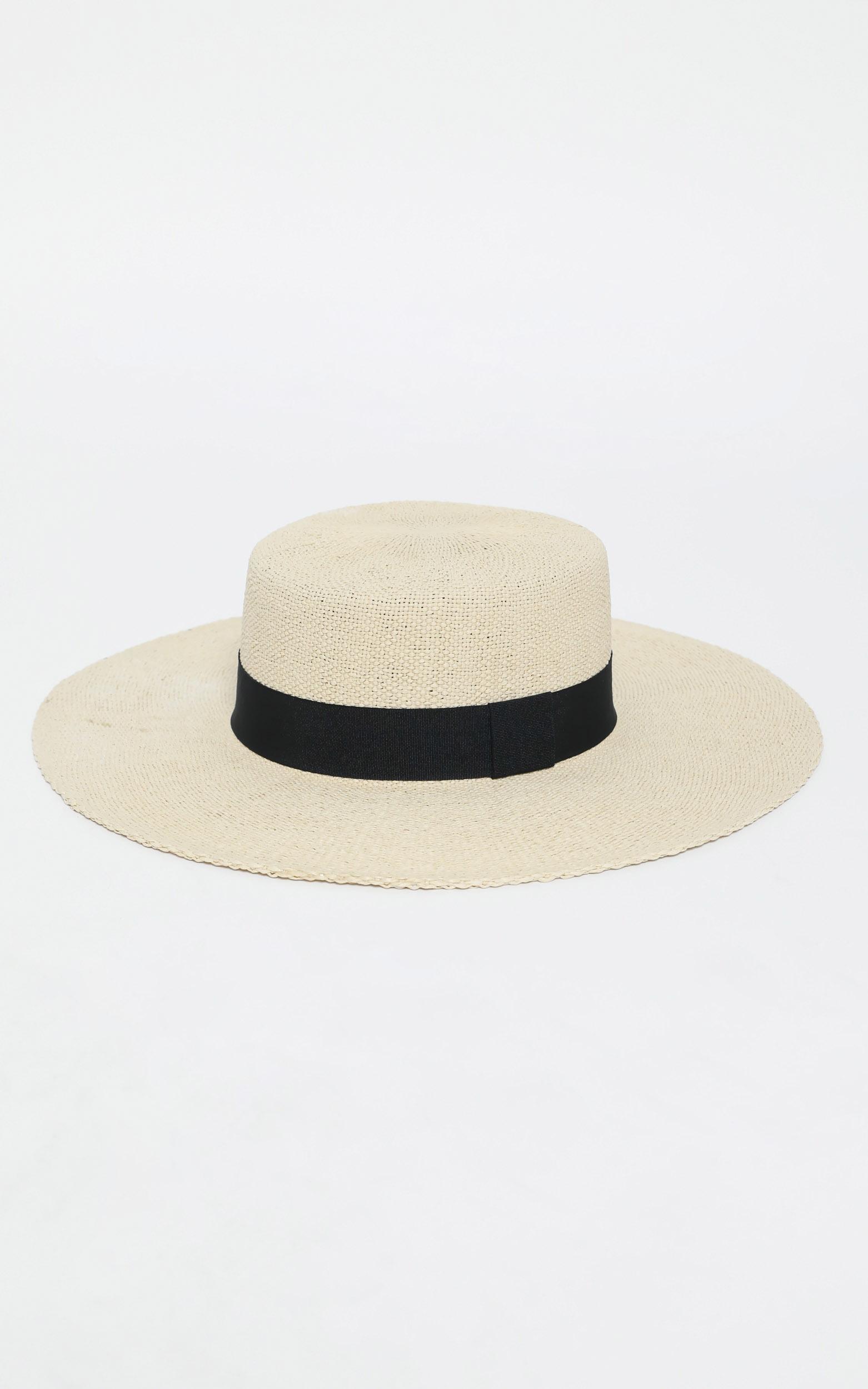 Alphonse Straw Hat in Beige, , hi-res image number null