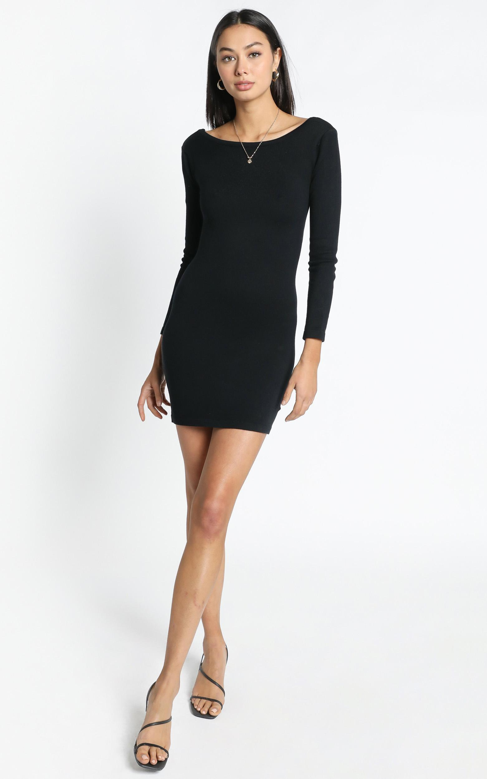 Sonya Knit Dress in Black - 12 (L), Black, hi-res image number null