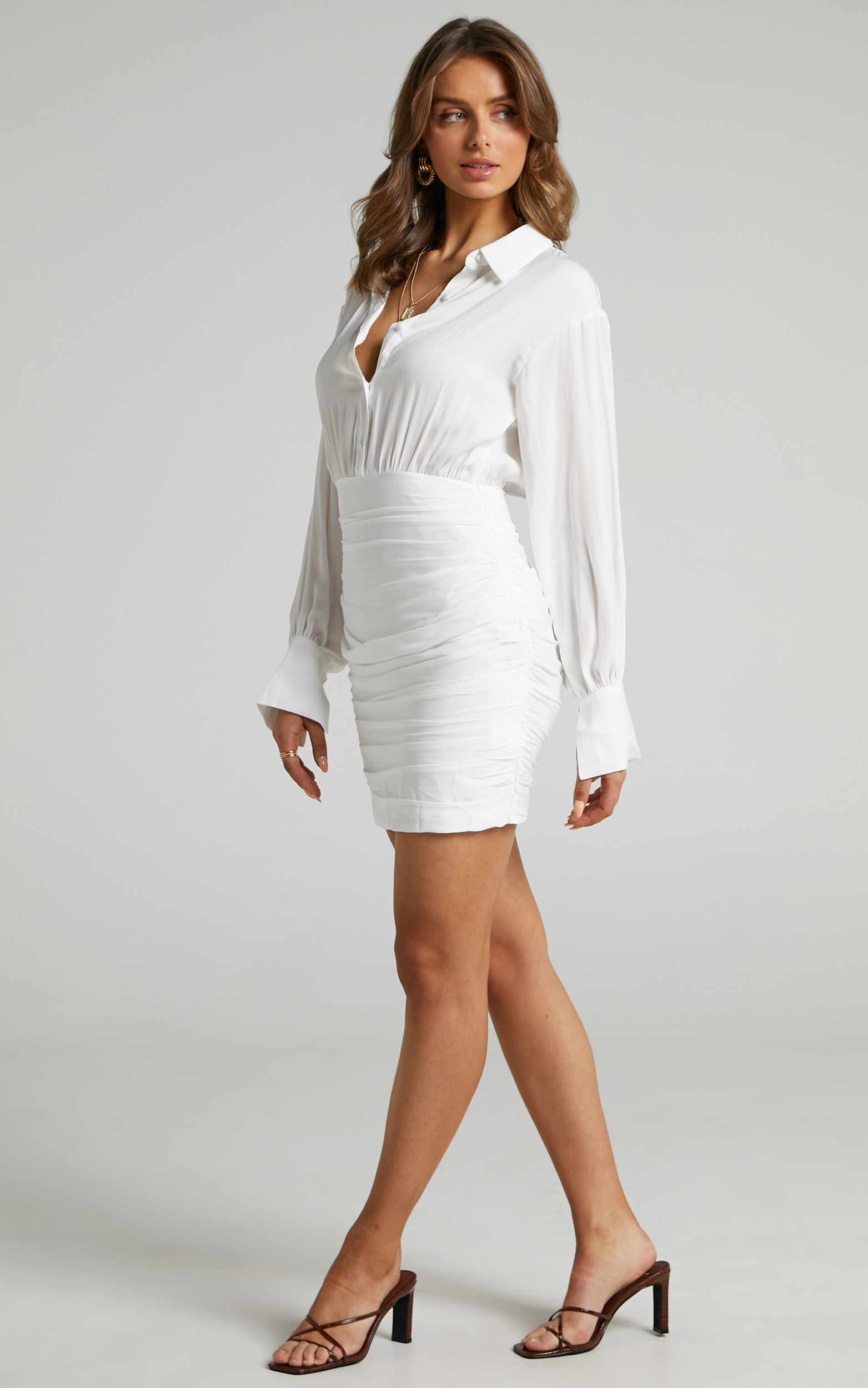 Kansy Shirt Dress in White - 06, WHT1, hi-res image number null