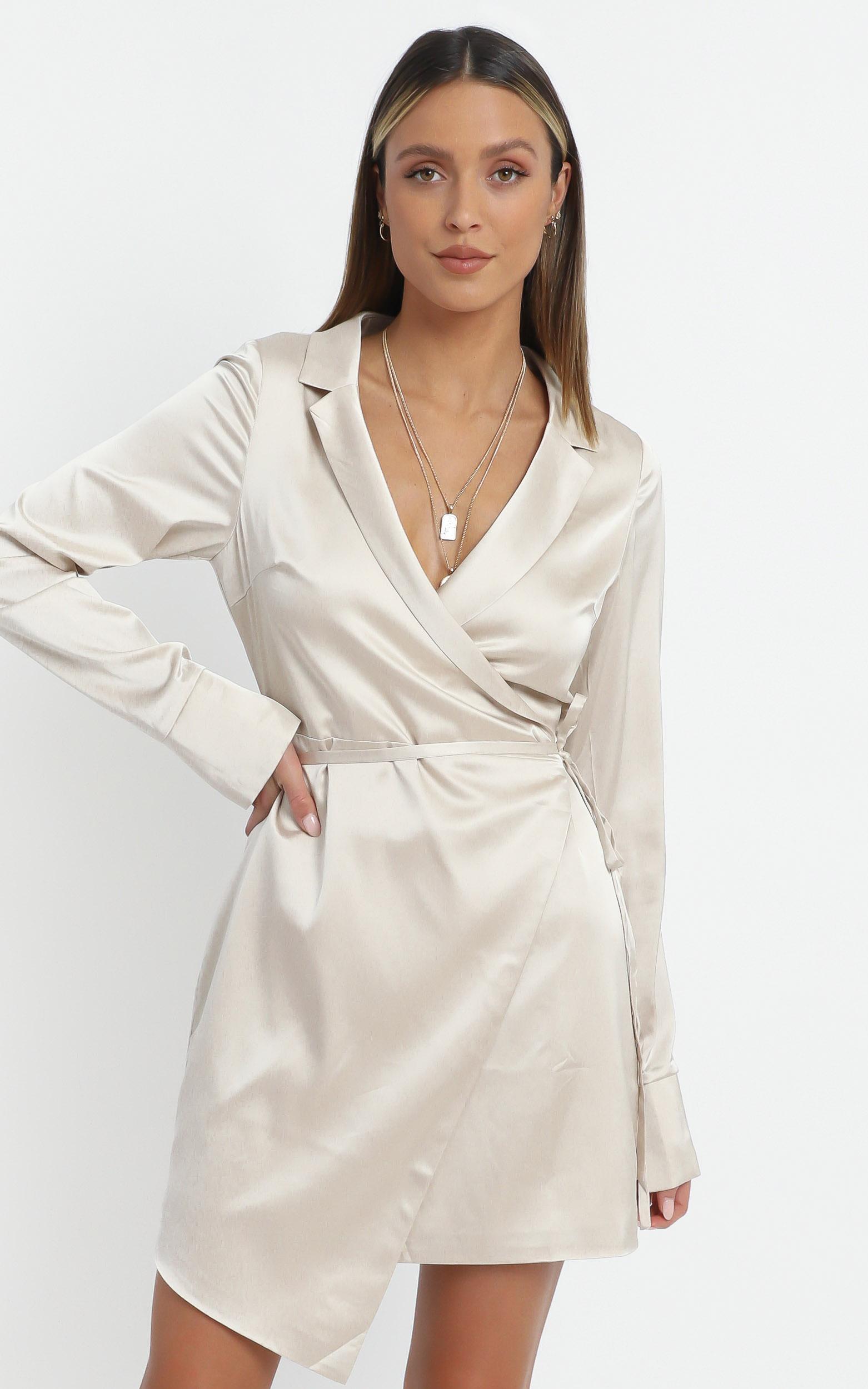 Loren Dress in Champagne - 14 (XL), Beige, hi-res image number null