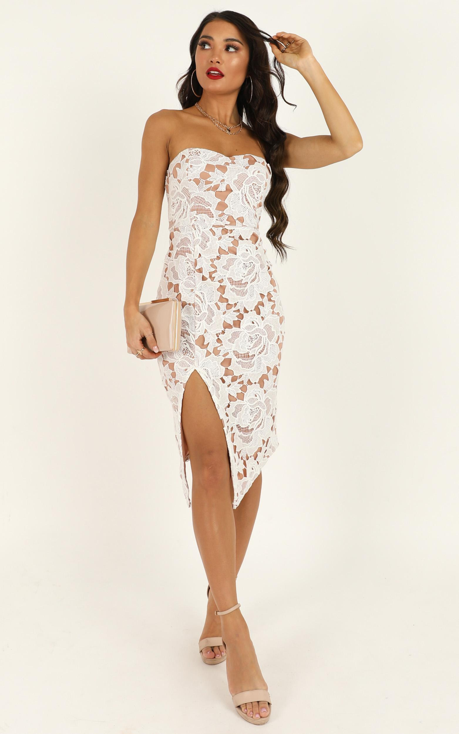 Lace To Lace Dress in white lace - 20 (XXXXL), White, hi-res image number null