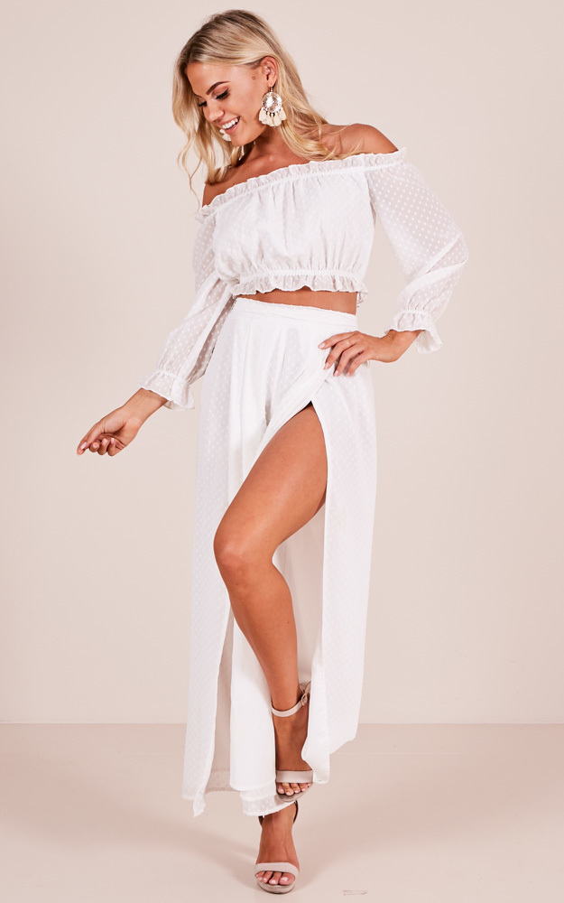 Needed You Here two piece set in white - 20 (XXXXL), White, hi-res image number null
