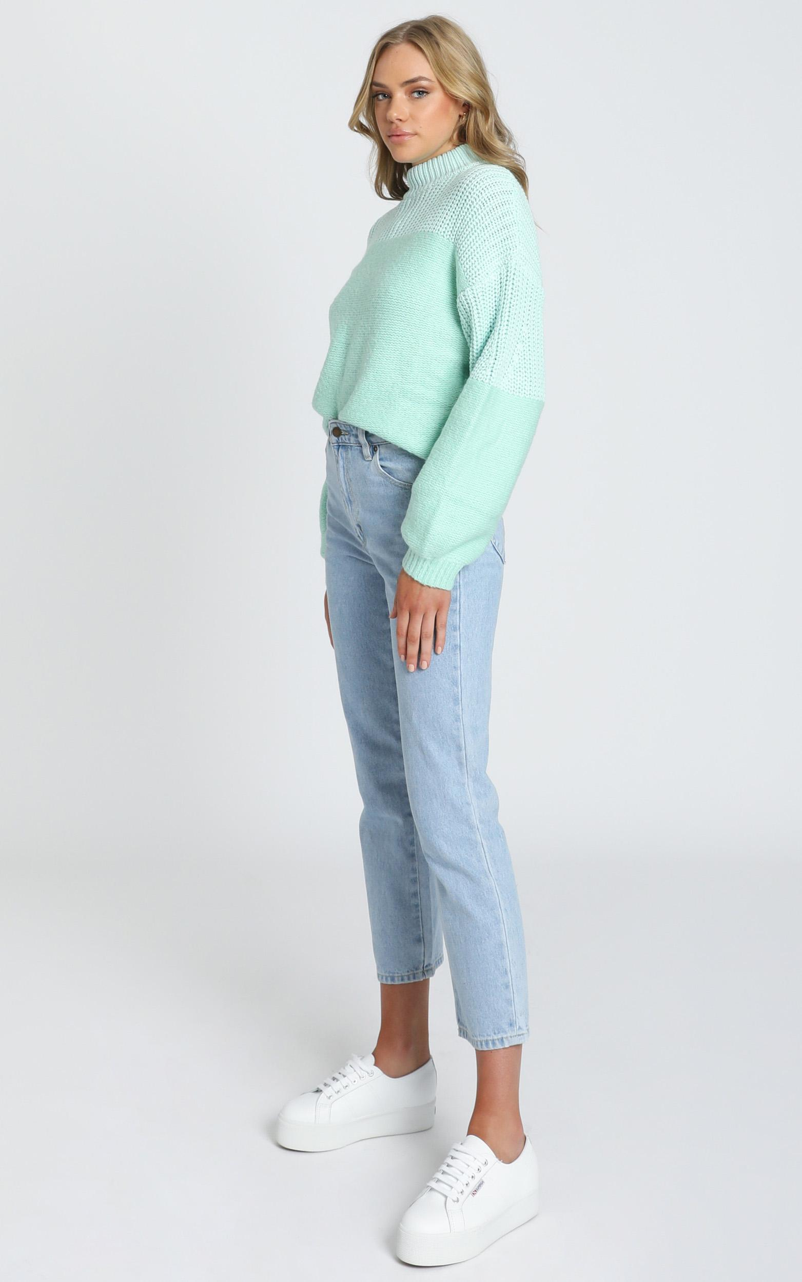 Dakota Knit Jumper in mint - 6 (XS), Green, hi-res image number null