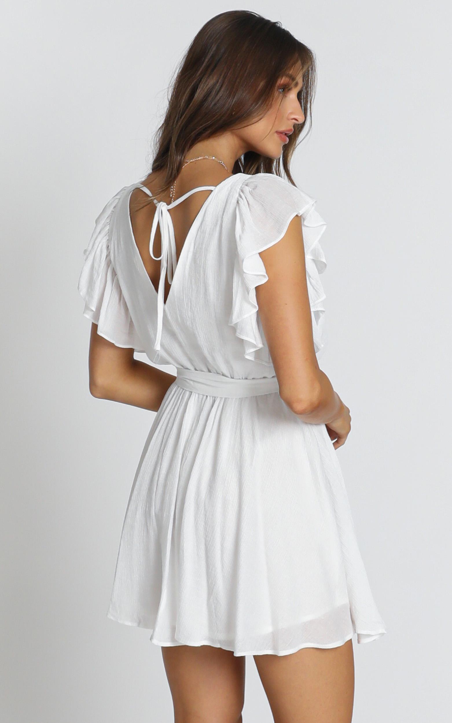 Rosalie Dress in white - 12 (L), White, hi-res image number null