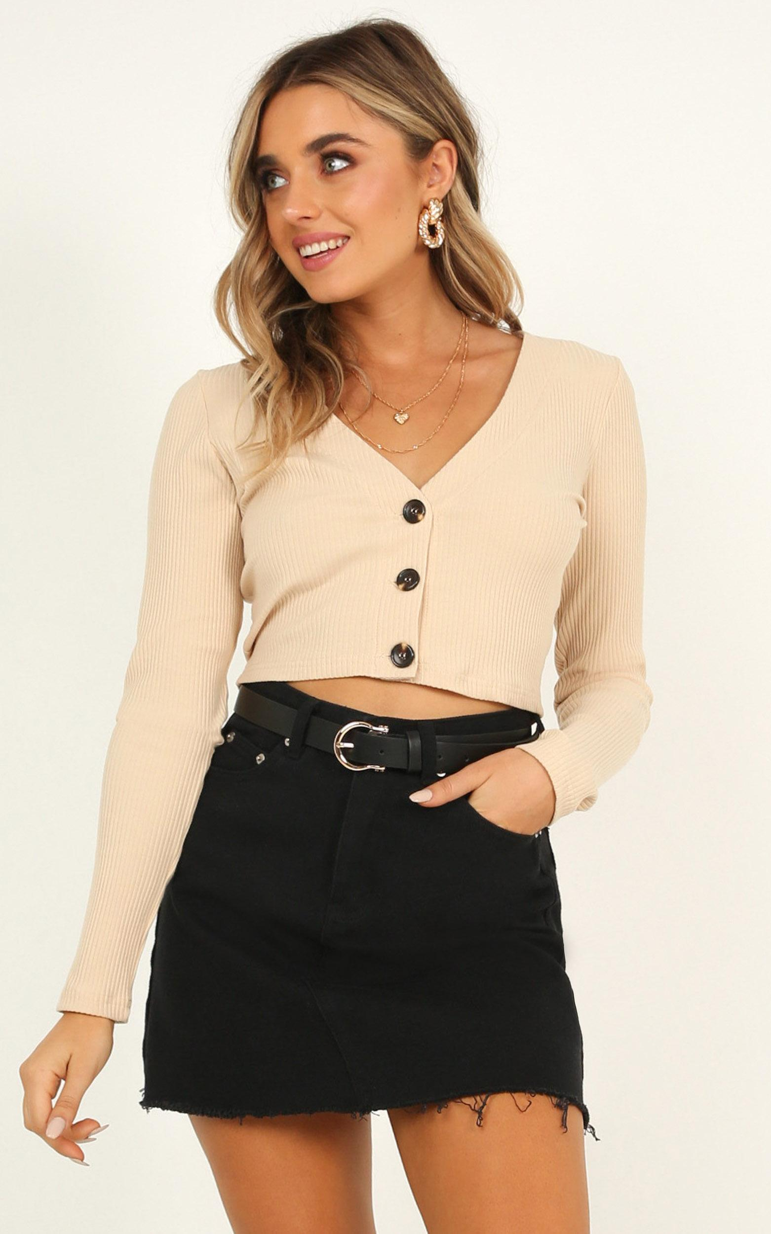 Rhythm Moved Top in oat - 20 (XXXXL), Beige, hi-res image number null