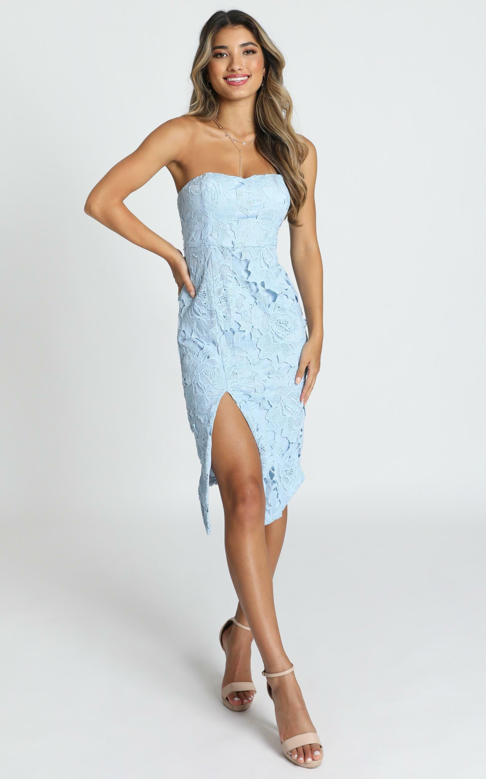 Lace To Lace Dress in dusty blue lace - 14 (XL), Blue, hi-res image number null