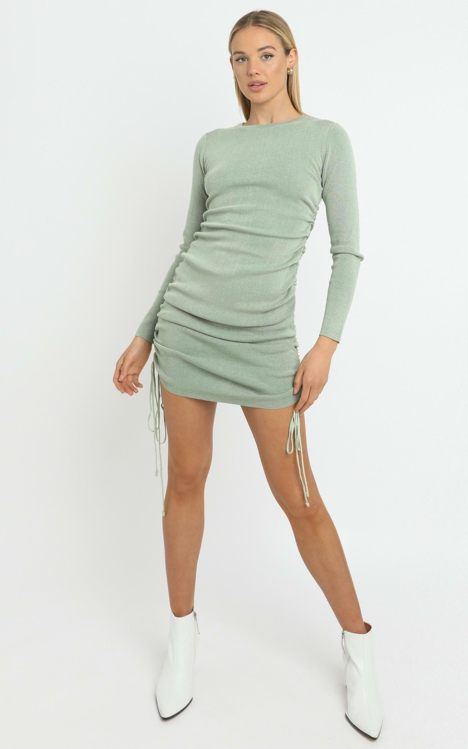 Lioness - Military Minds Long Sleeve Dress in Sage - 12, GRN3, hi-res image number null