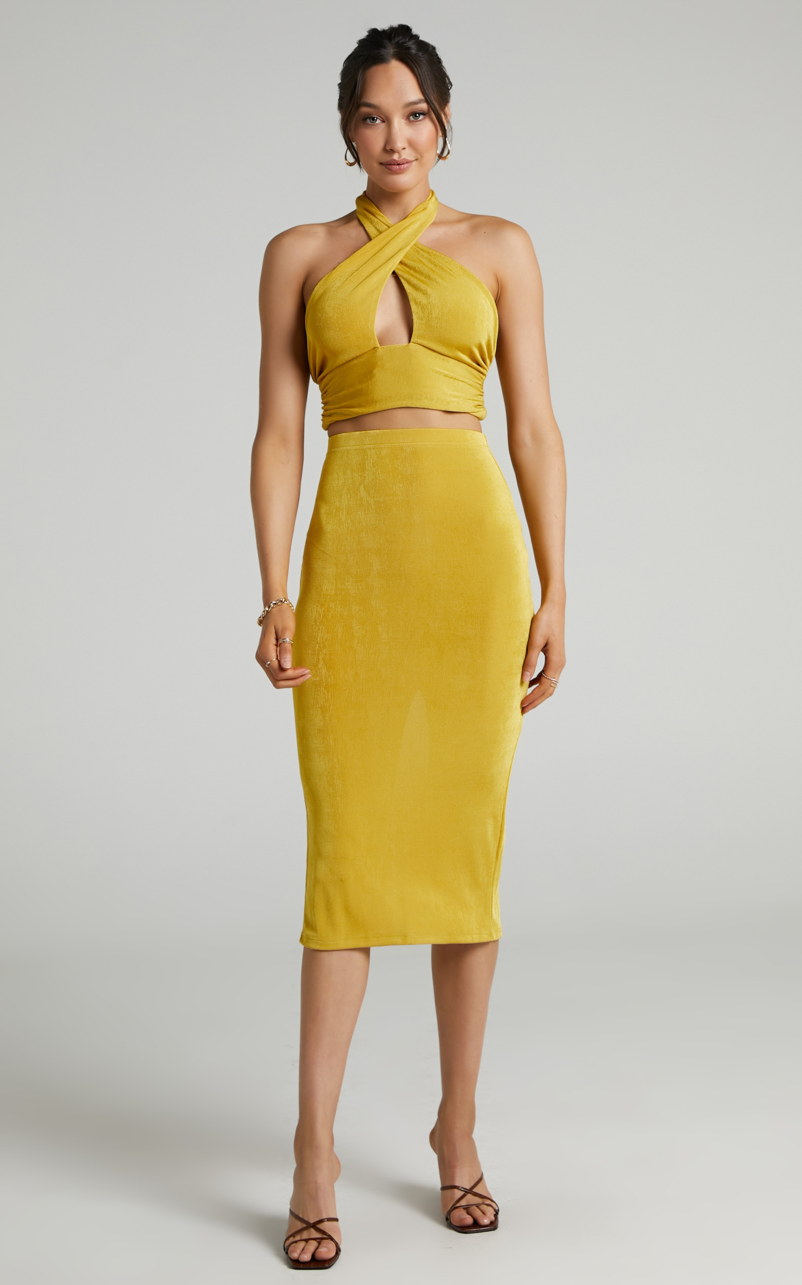 She.Is.Us - On Demand Skirt in Butterscotch - L, YEL1, hi-res image number null