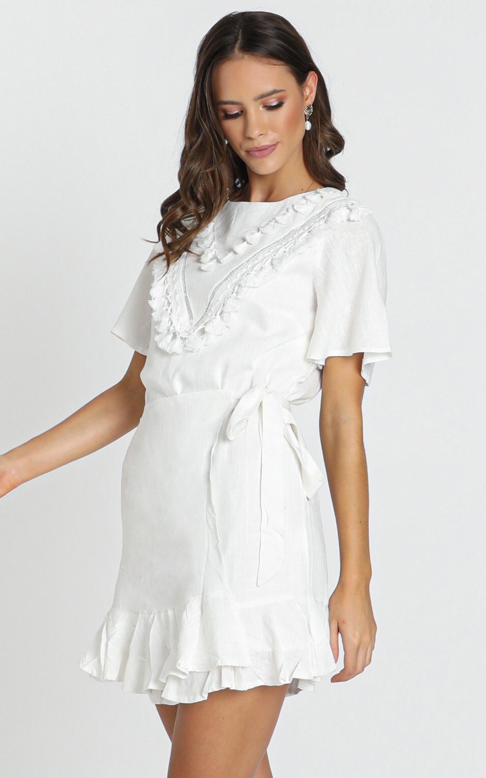 Nadine Dress in white - 12 (L), White, hi-res image number null