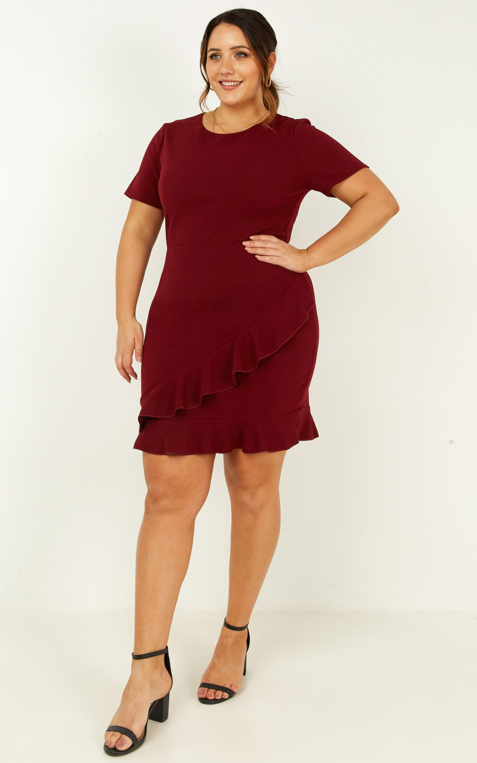 Keeping The Peace Dress in wine - 20 (XXXXL), Wine, hi-res image number null