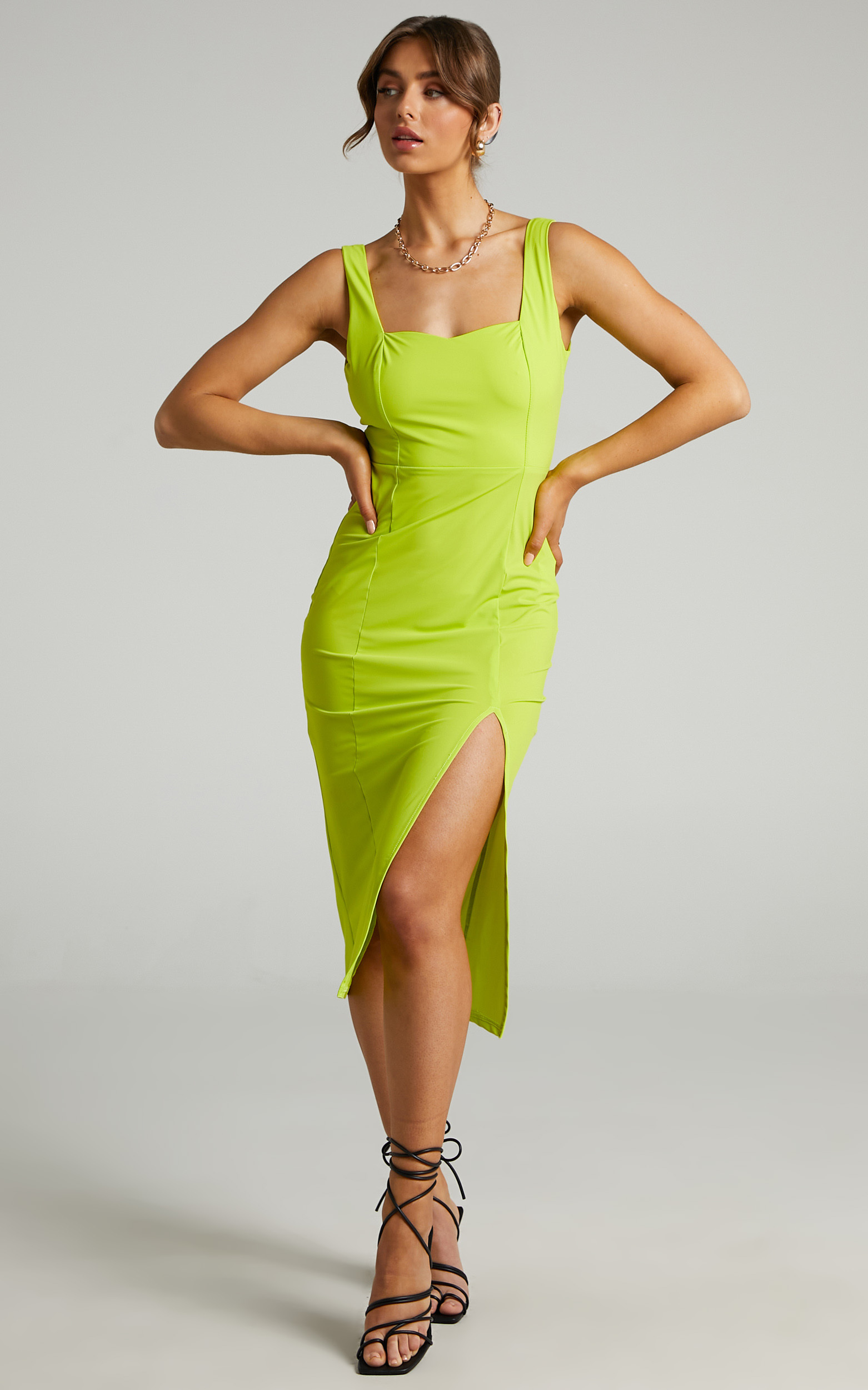 Feel the Love Dress in Chartreuse - 04, GRN1, hi-res image number null