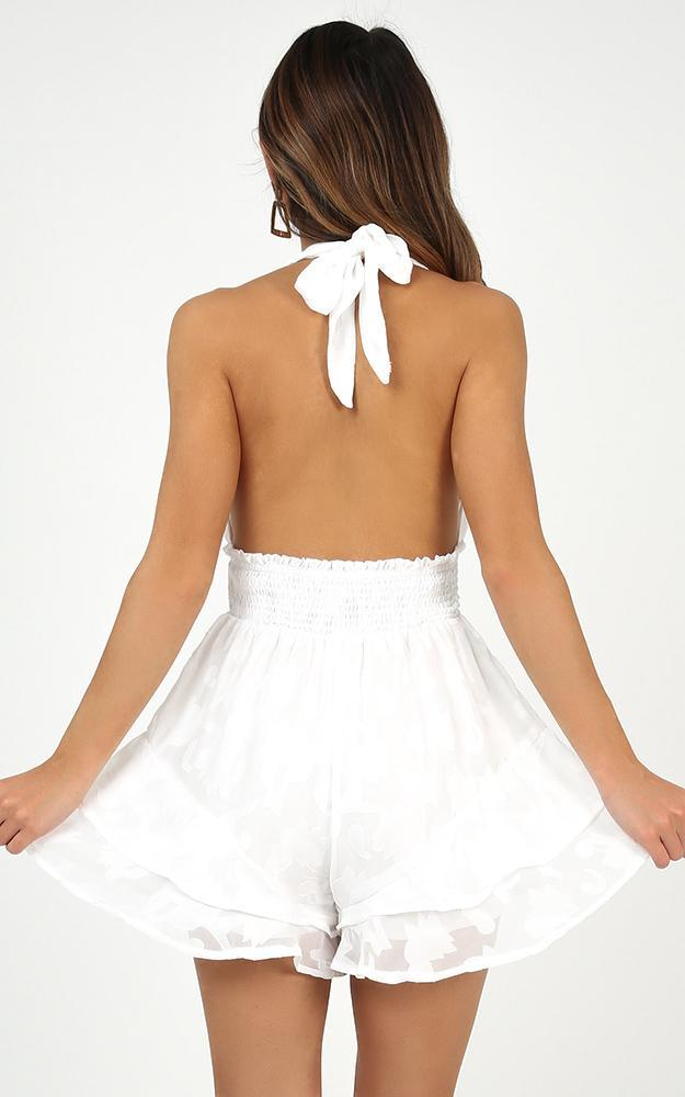 Whatever Comes To Mind playsuit in white - 12 (L), White, hi-res image number null