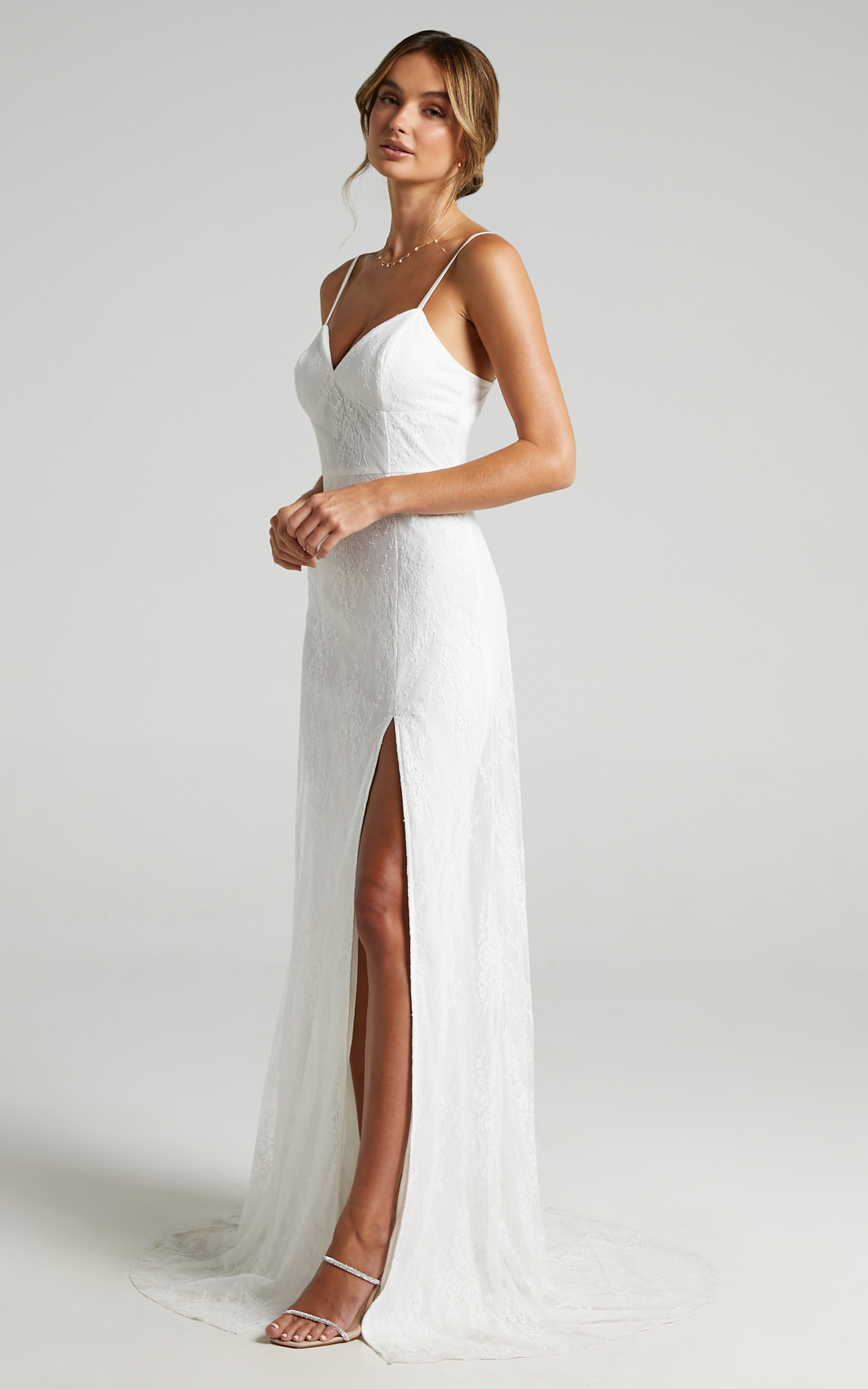 Love On Top Gown in White Lace - 06, WHT1, hi-res image number null