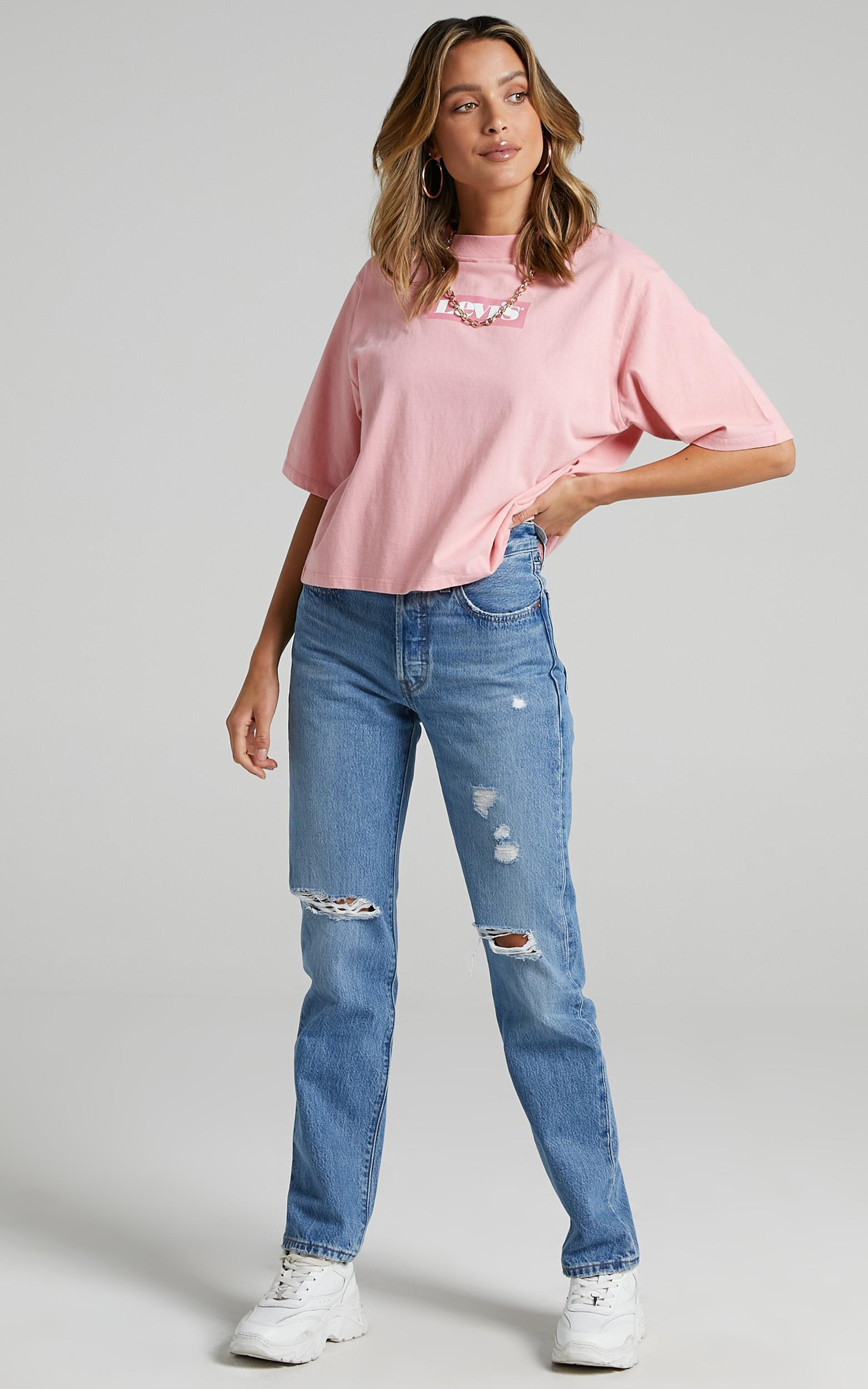 Levis - Heavyweight Box Logo Tee in Peony - 6 (XS), Pink, hi-res image number null