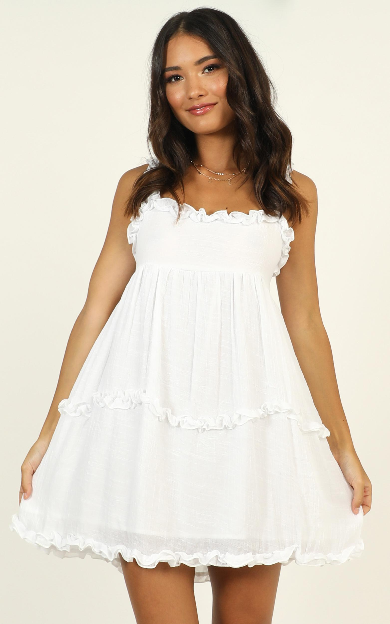 Grow As We Go dress in white - 12 (L), White, hi-res image number null