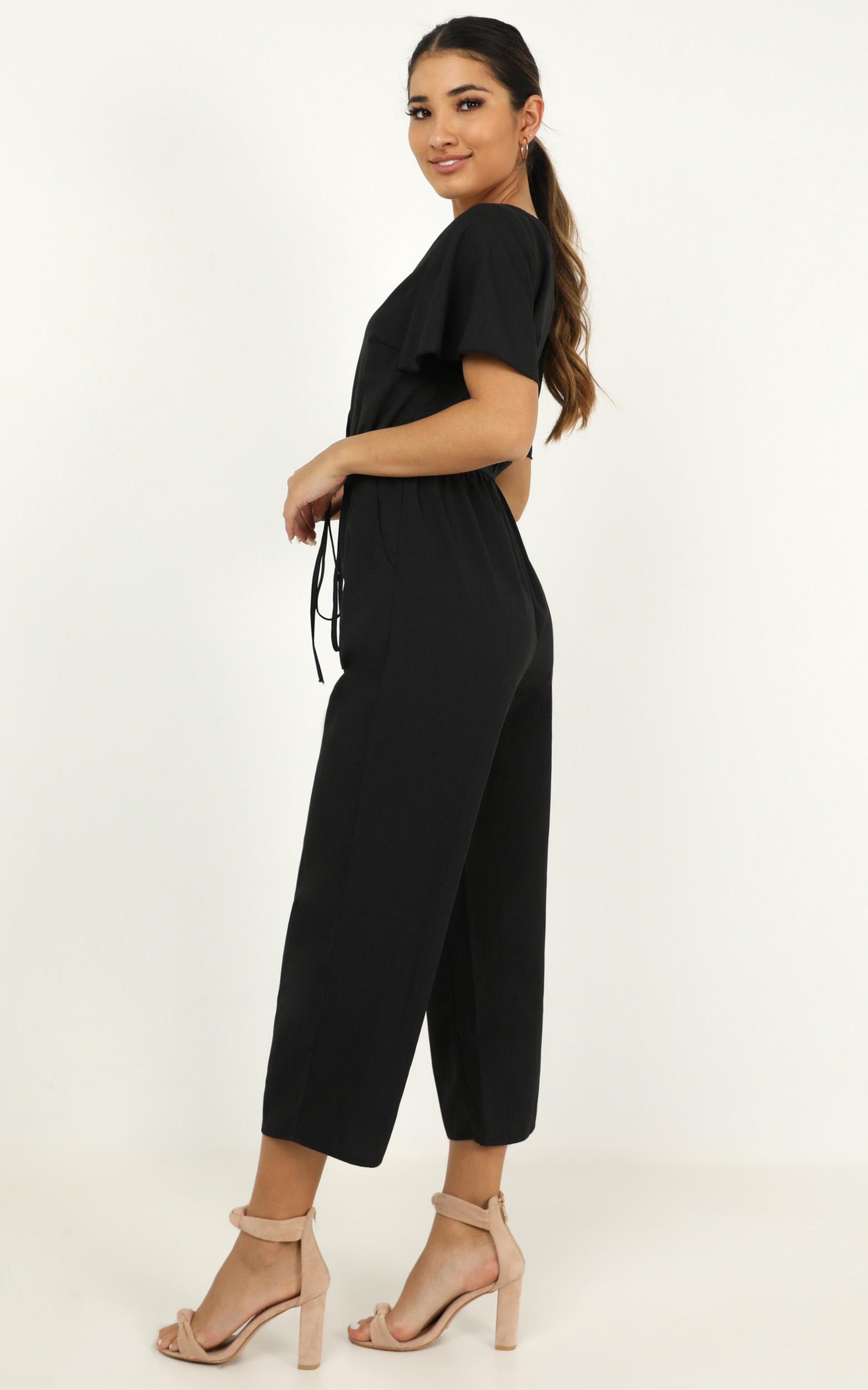 Clear Diary Jumpsuit in black - 20 (XXXXL), Black, hi-res image number null