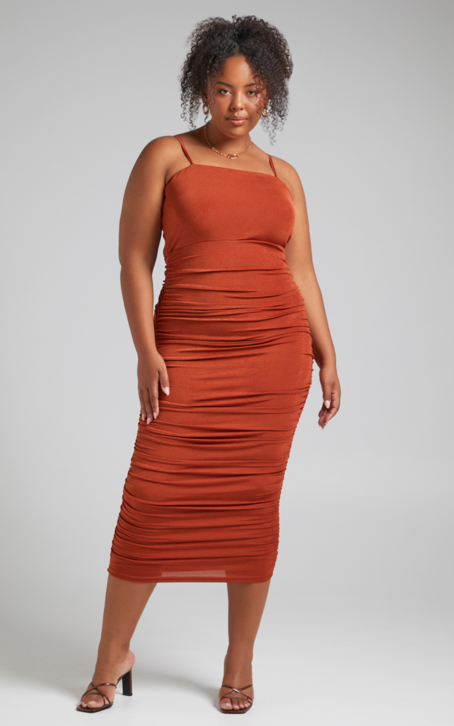 Commit To Me Bodycon Midi Dress in Rust - 04, BRN3, hi-res image number null
