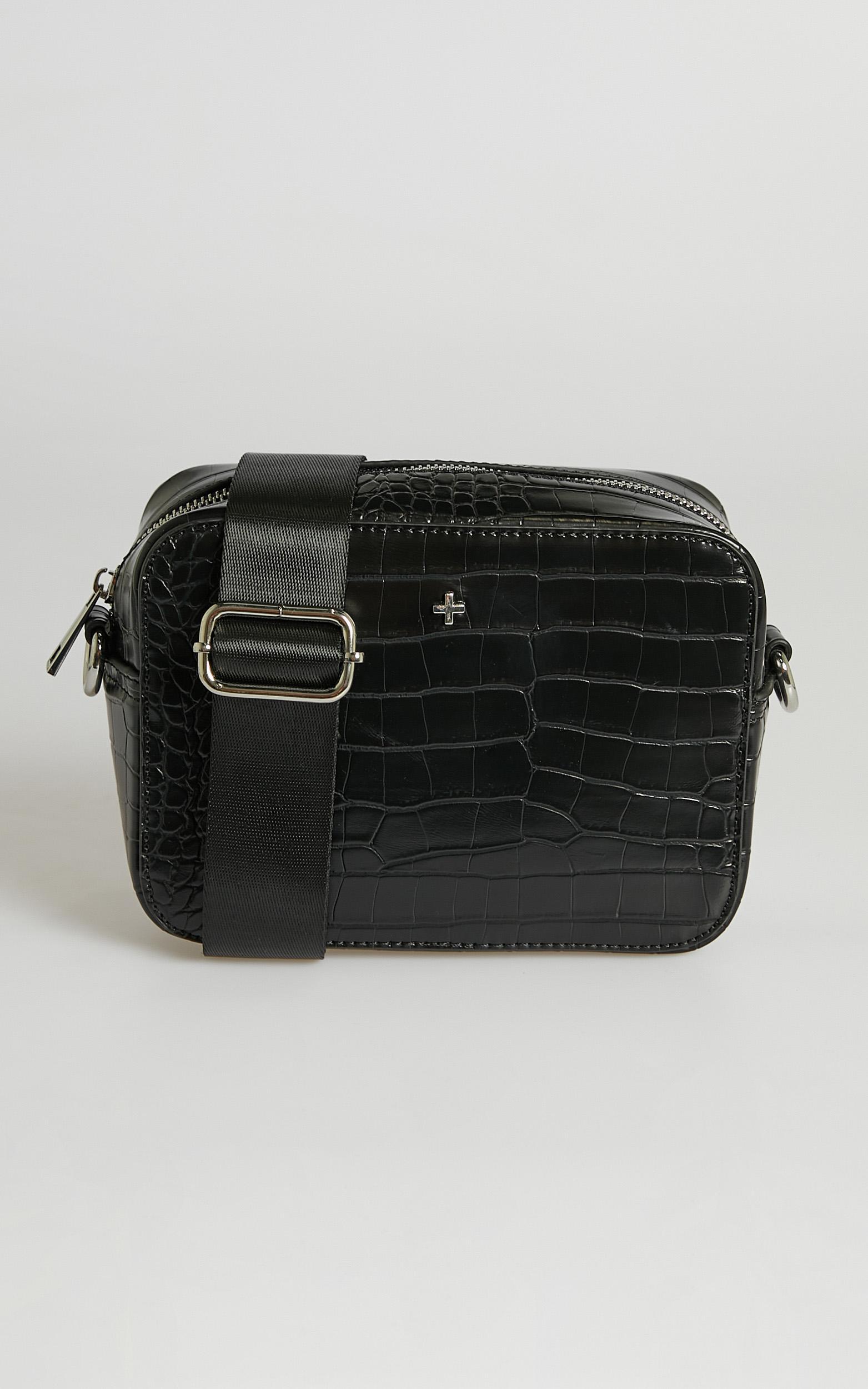 Peta and Jain - Tammy Bag in Black Croc, , hi-res image number null