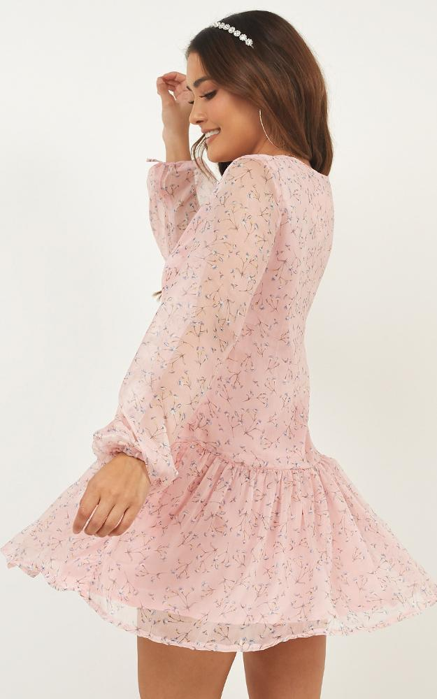 What if Dress in blush floral - 14 (XL), Blush, hi-res image number null