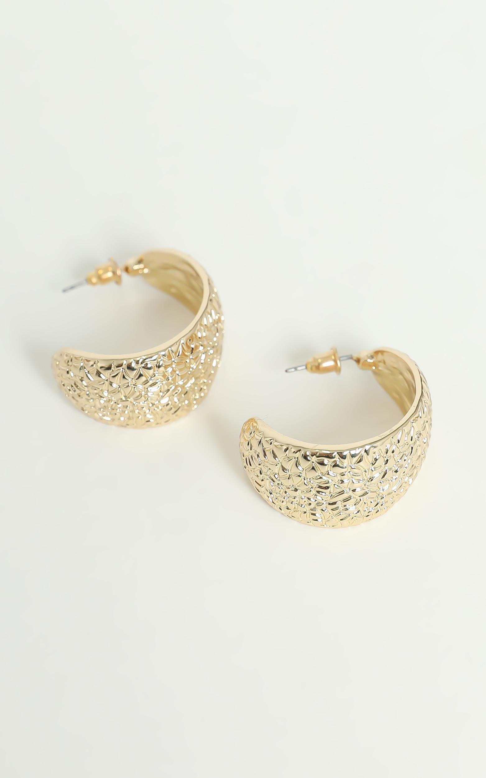 Biancah Hoop Earrings in Gold, , hi-res image number null