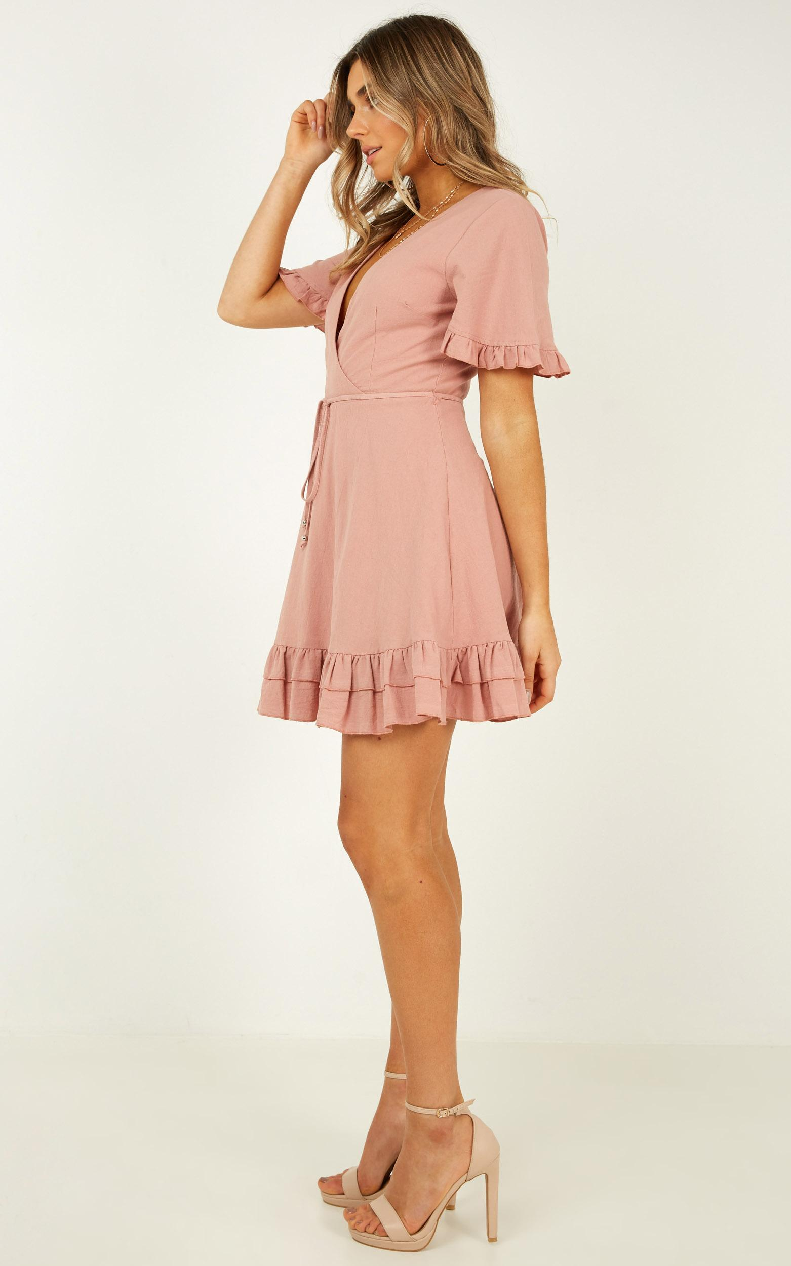 Young Folks Dress in dusty rose - 14 (XL), Pink, hi-res image number null