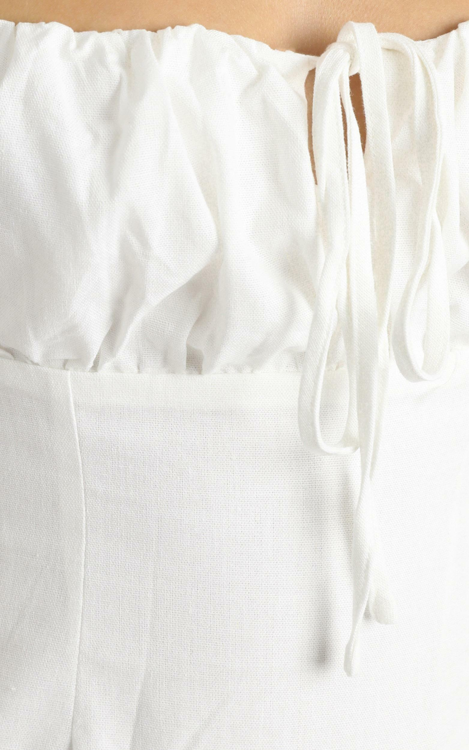 Break Free With Me Dress in white linen look - 20 (XXXXL), White, hi-res image number null