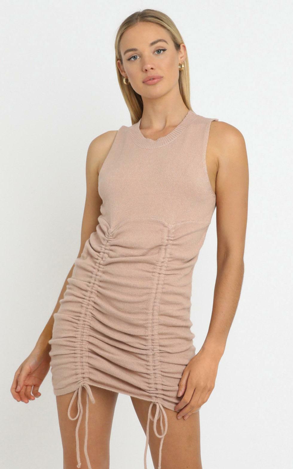 Jody Dress in Tan - 12 (L), Tan, hi-res image number null