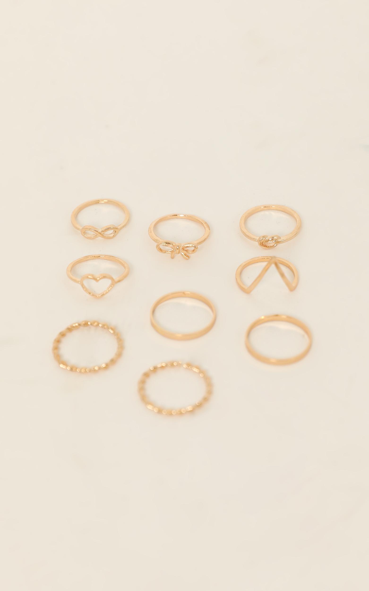 Longest Goodbye Ring Set in Gold, , hi-res image number null