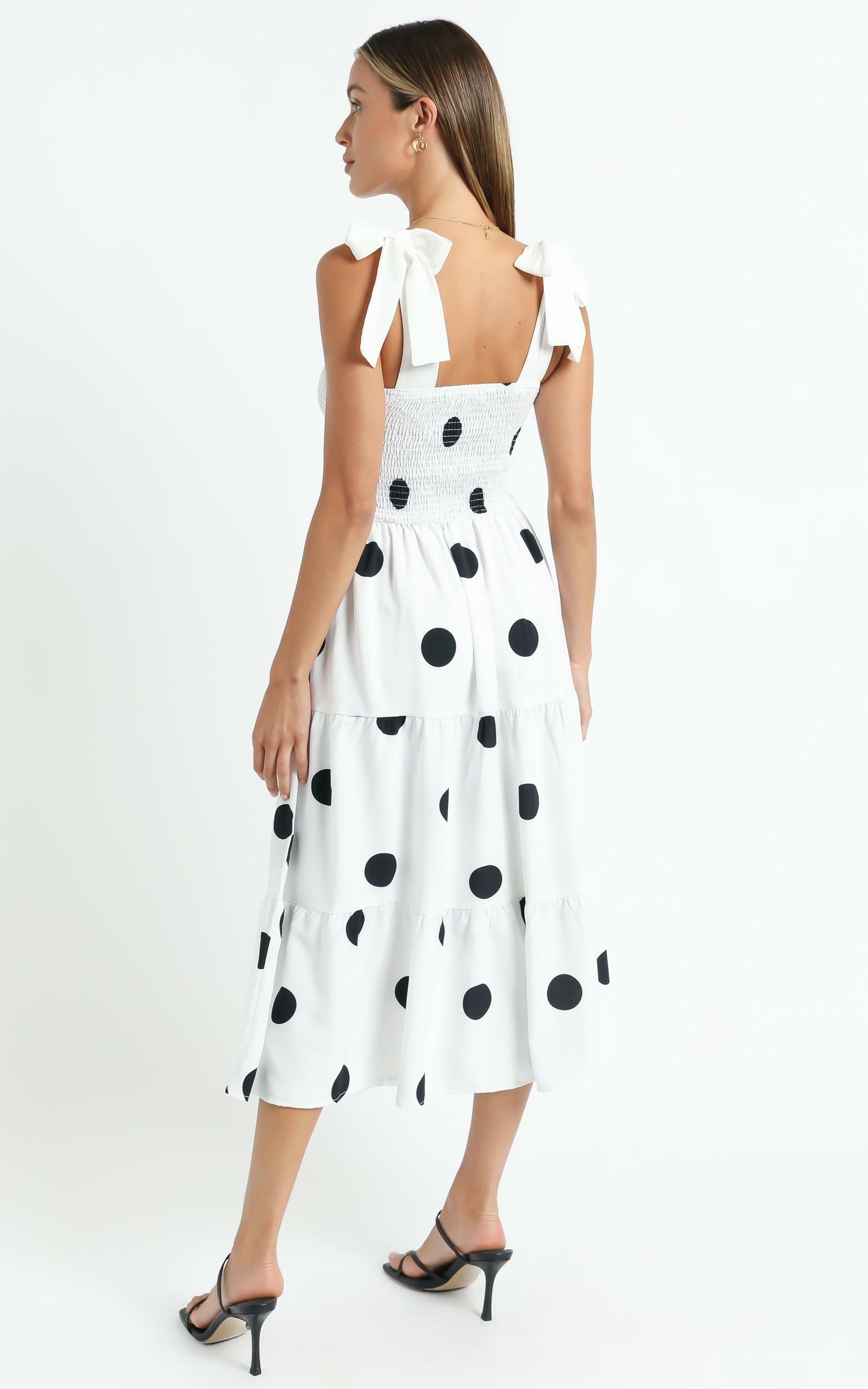 Sykes Dress in White Polka - 6 (XS), White, hi-res image number null