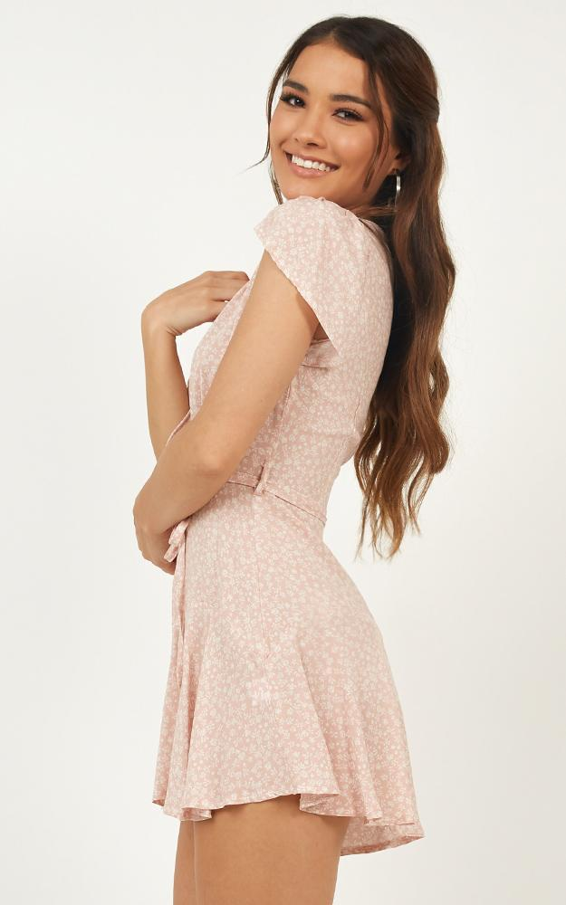 River run playsuit in blush floral, Blush, hi-res image number null