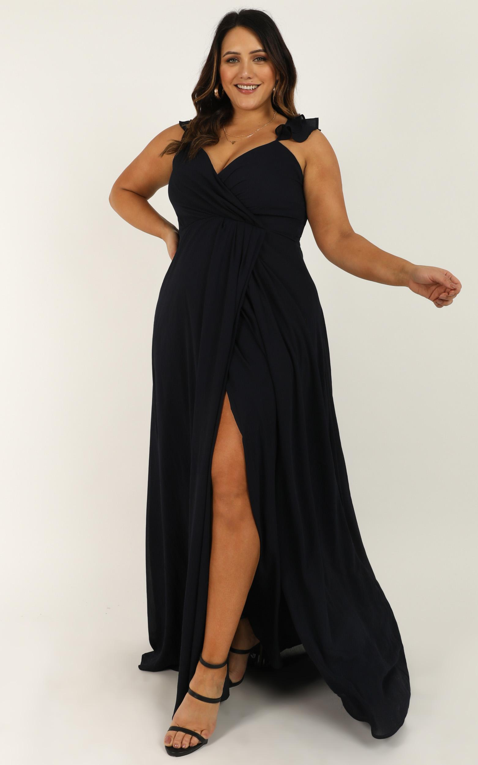 Wrap Your Troubles in Dreams Dress in navy - 20 (XXXXL), Navy, hi-res image number null