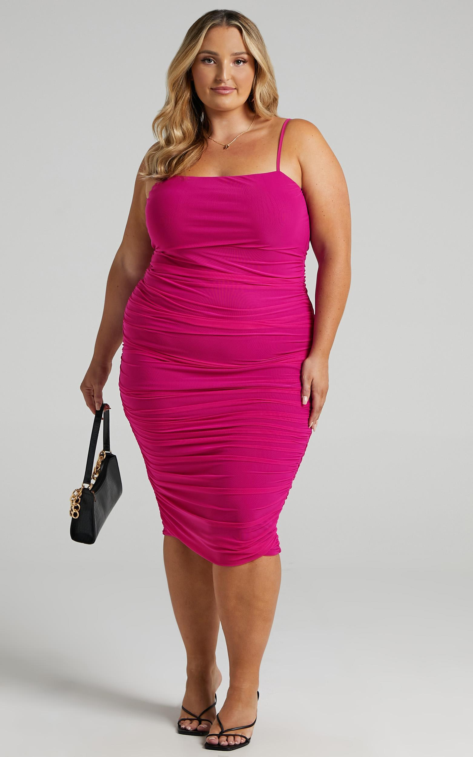 Coming For You Dress in Hot Pink Mesh - 4 (XXS), PNK11, hi-res image number null