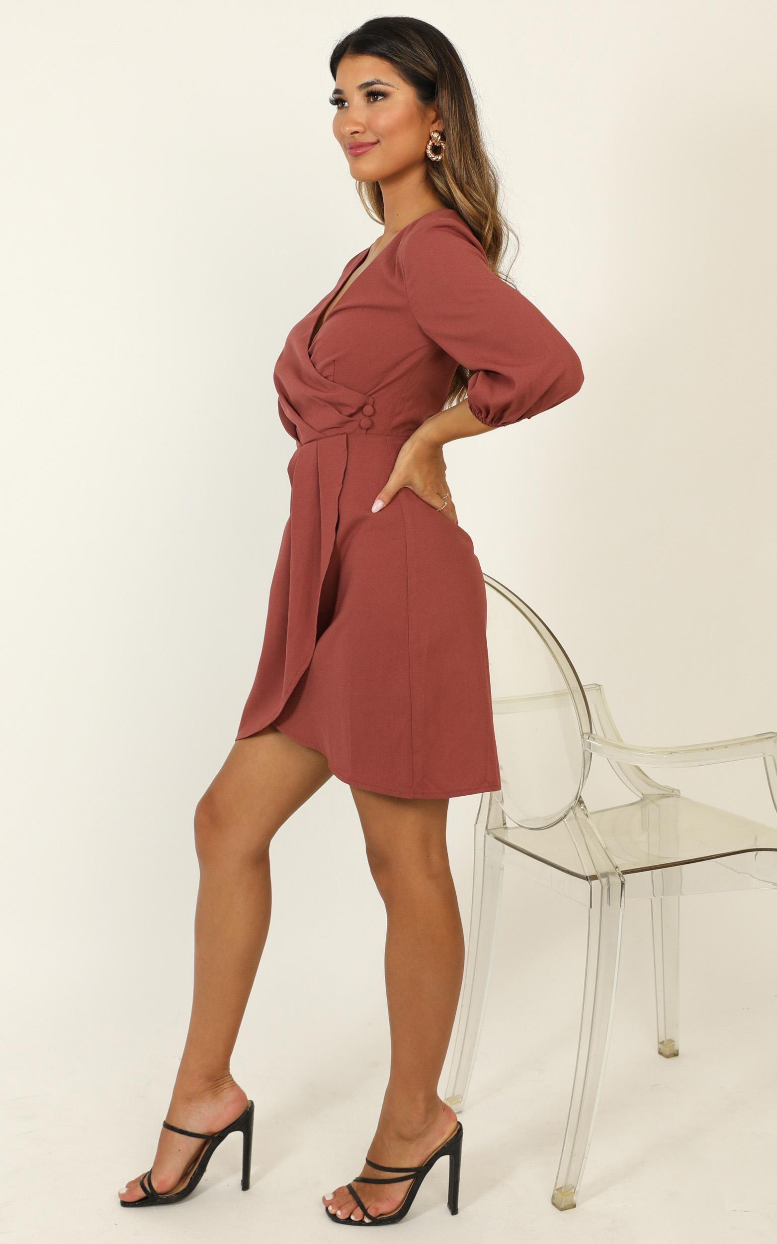 Talking Back Dress in dusty rose - 20 (XXXXL), Pink, hi-res image number null