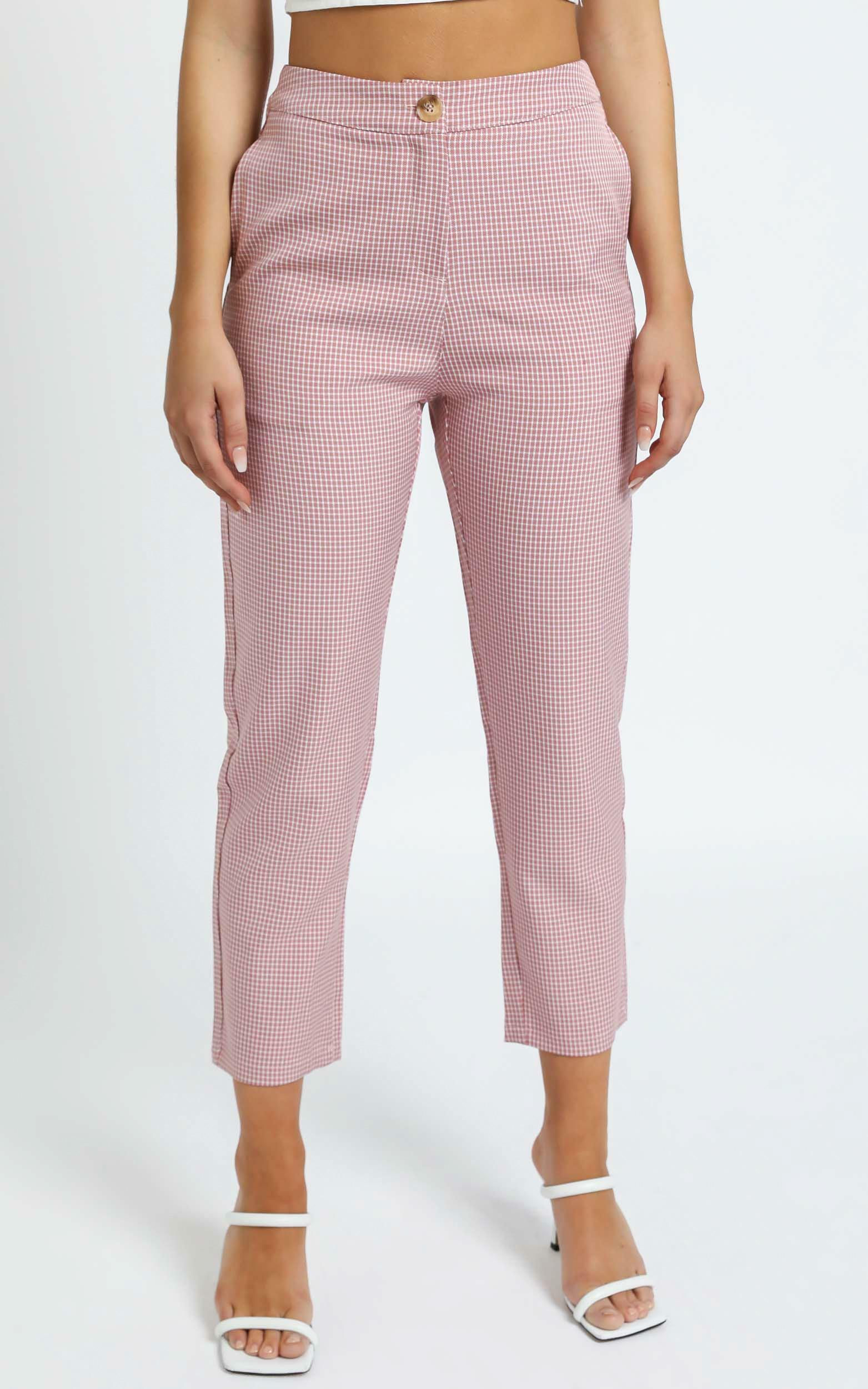 Barbina Pants in Pink Check - 12 (L), Pink, hi-res image number null