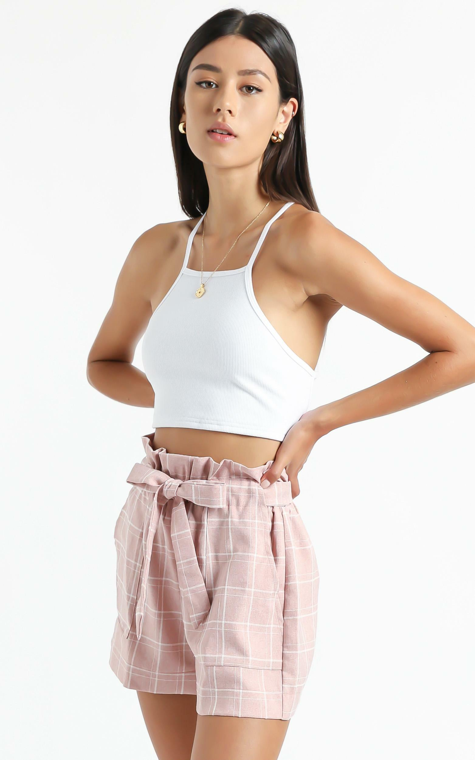 All Rounder Shorts in blush check - 18 (XXXL), Blush, hi-res image number null