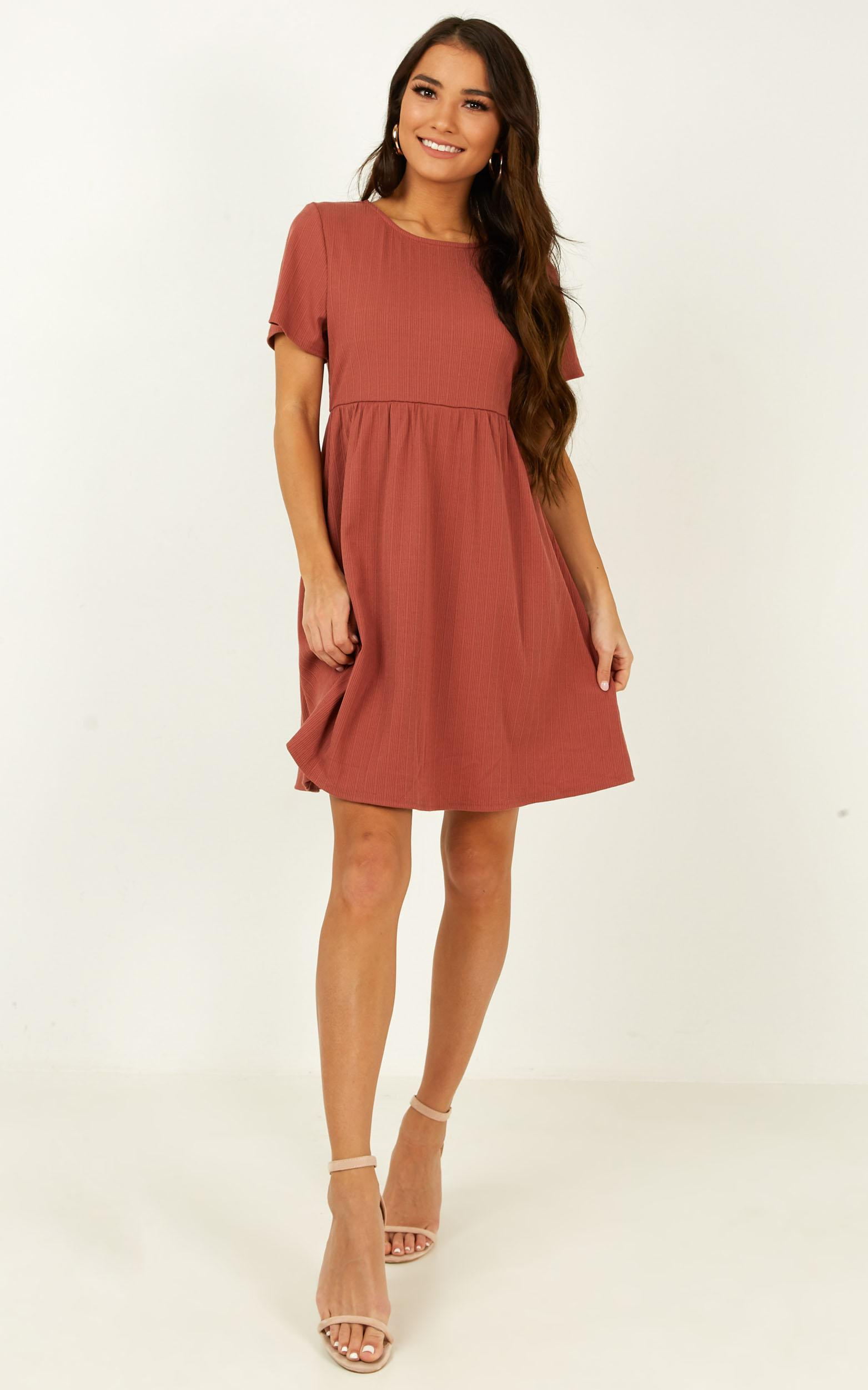 Just Chilling Dress in dusty rose - 20 (XXXXL), Pink, hi-res image number null