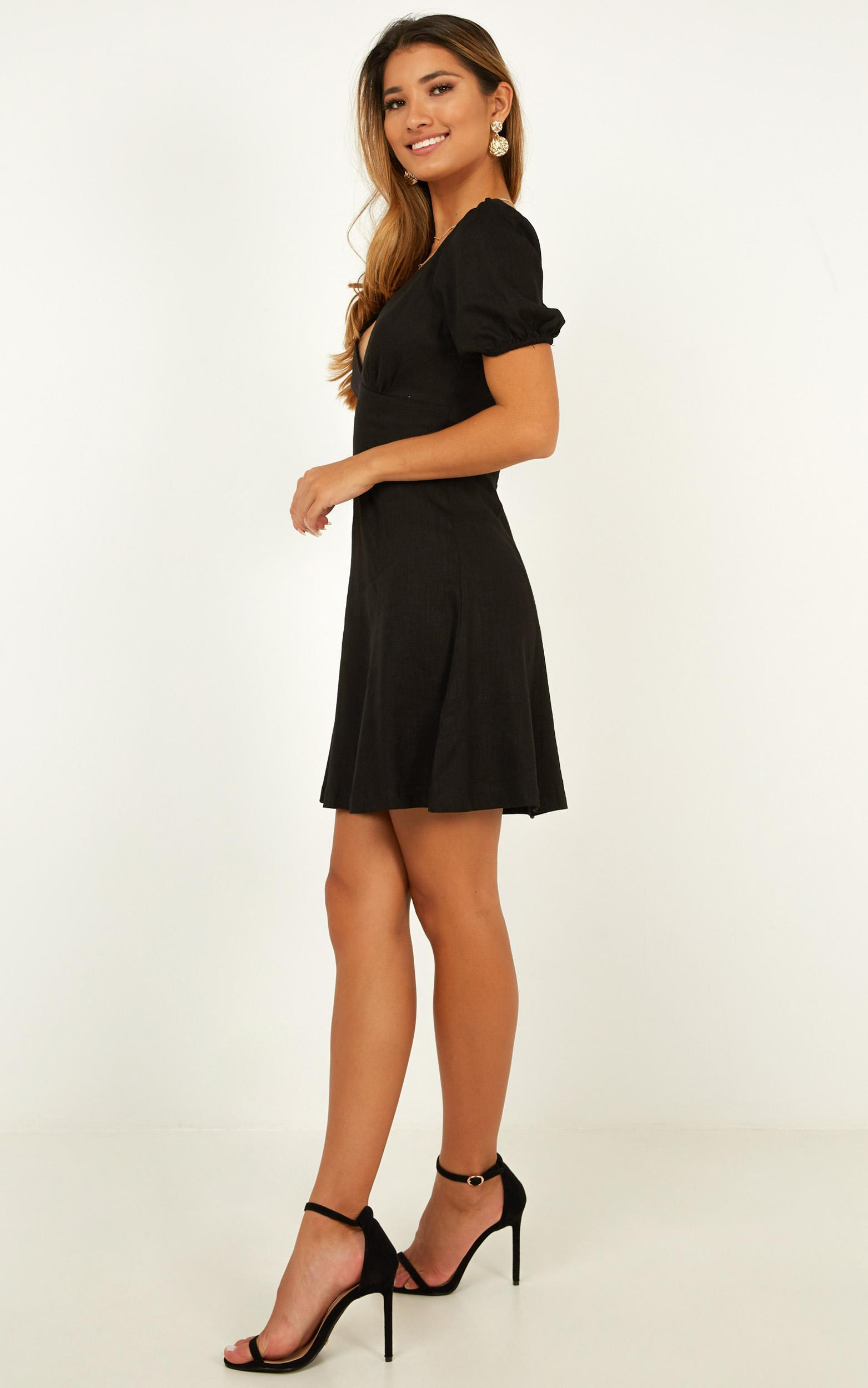 Waste No Time Dress In black - 12 (L), Black, hi-res image number null