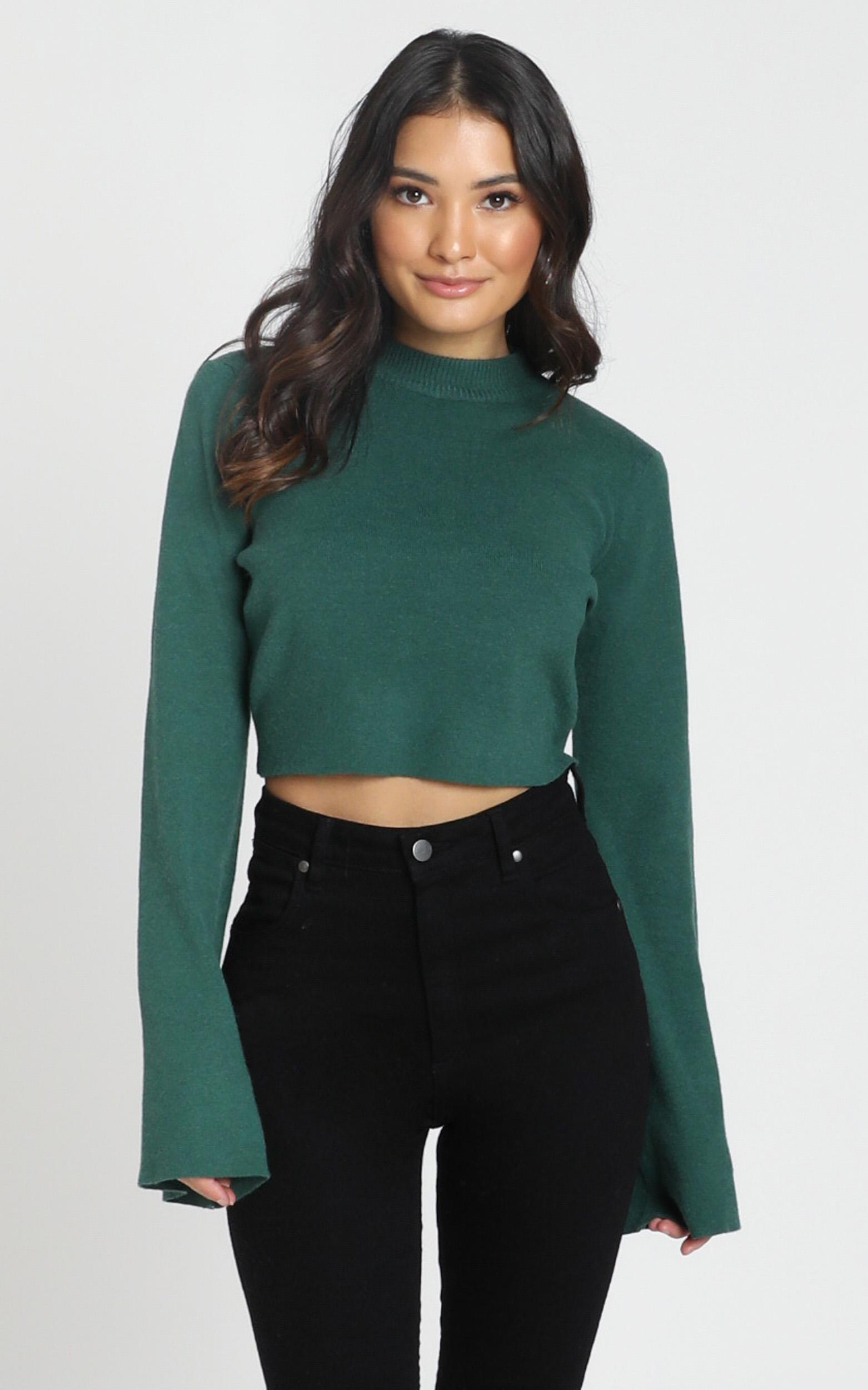 Endless Memories Knit Jumper In emerald - 8 (S), GRN7, hi-res image number null