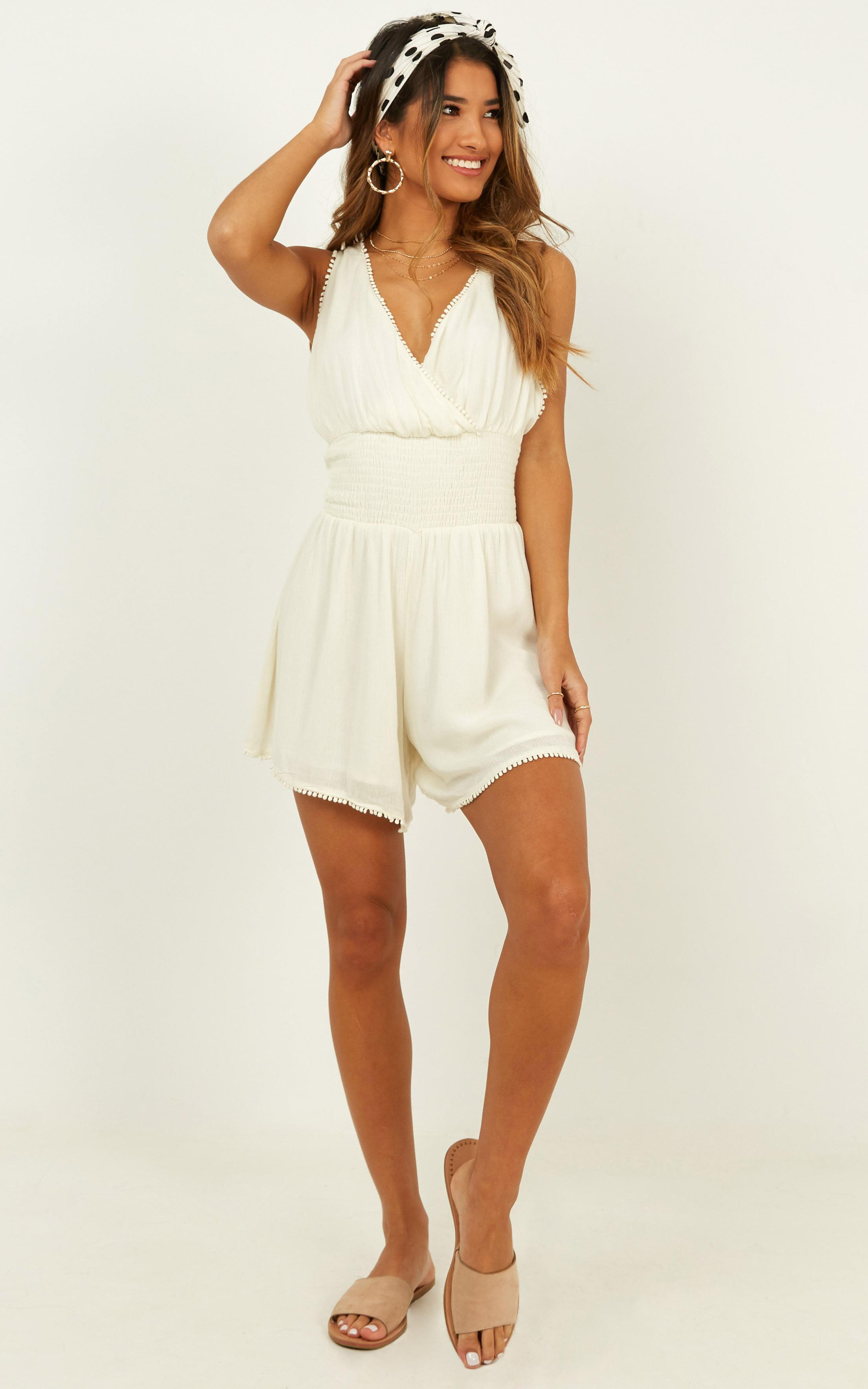 sing with me playsuit in natural - 20 (XXXXL), Beige, hi-res image number null